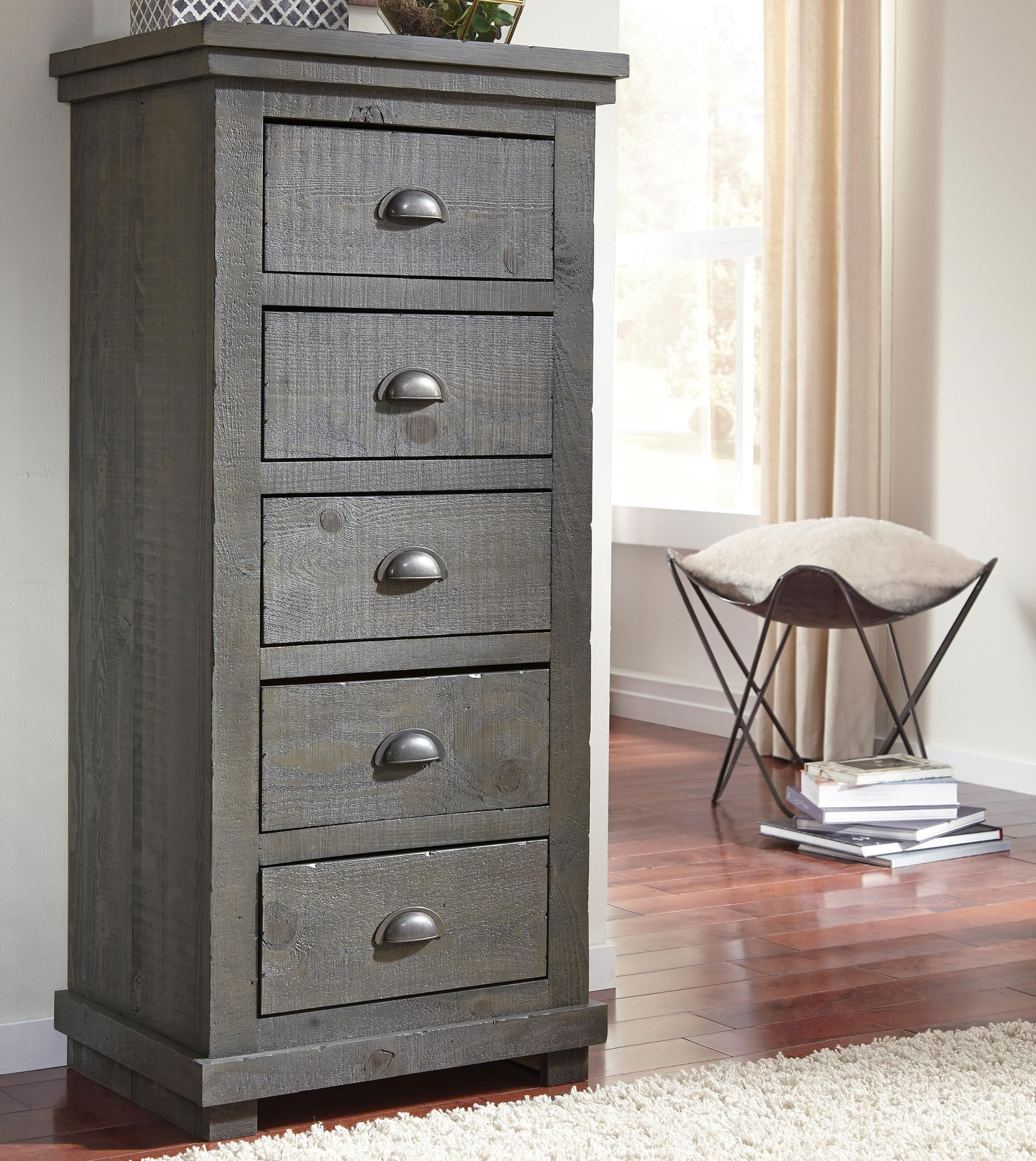 Progressive furniture willow distressed pine lingerie chest boulevard home furnishings - Cabinet bras nantes location ...