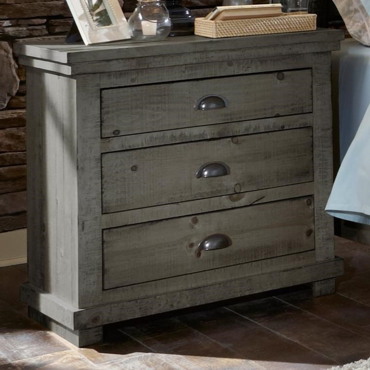 Progressive furniture willow distressed pine nightstand miskelly furniture night stands for Distressed pine bedroom furniture