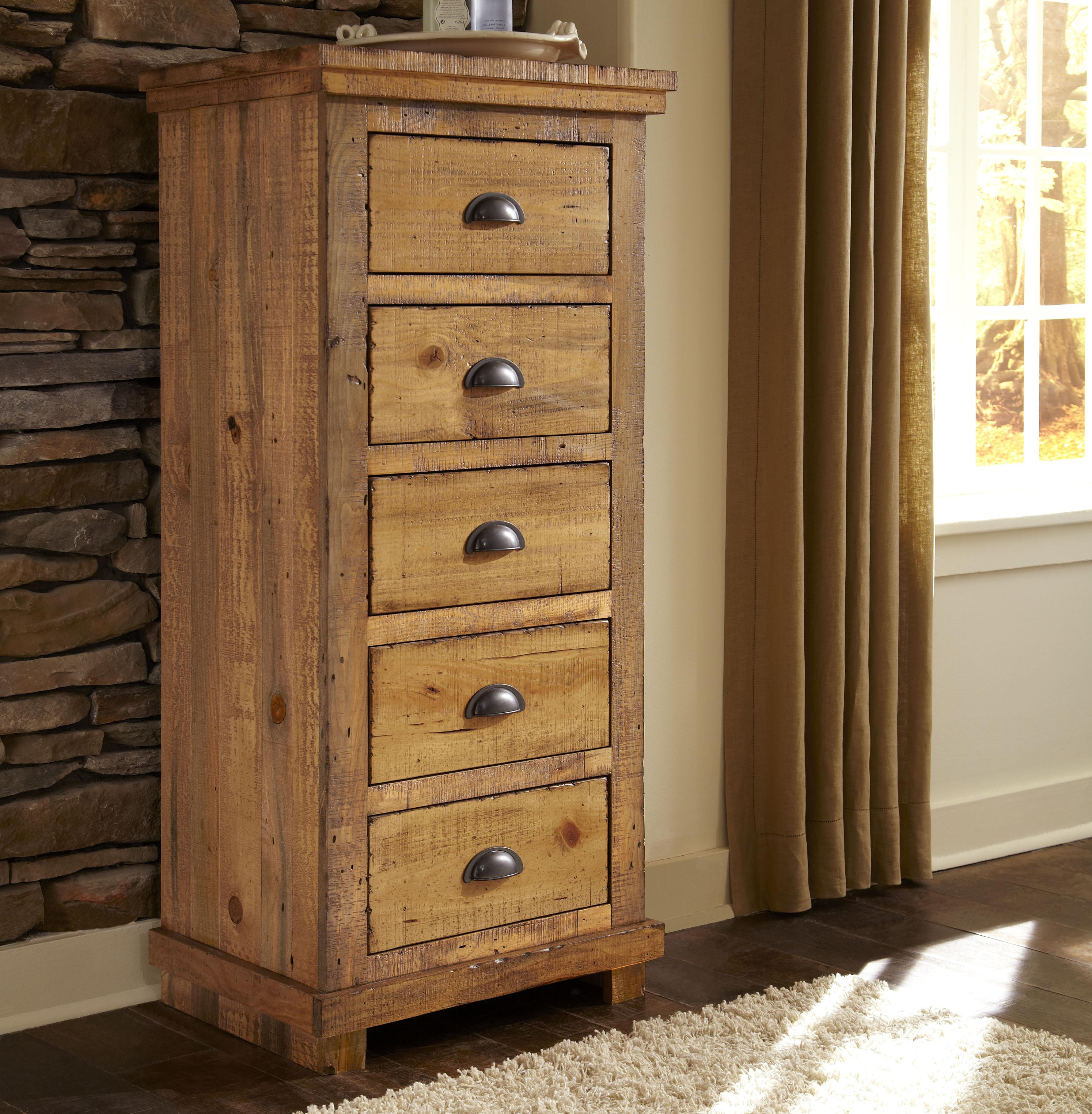 progressive furniture willow distressed pine lingerie chest wayside furniture lingerie chests. Black Bedroom Furniture Sets. Home Design Ideas