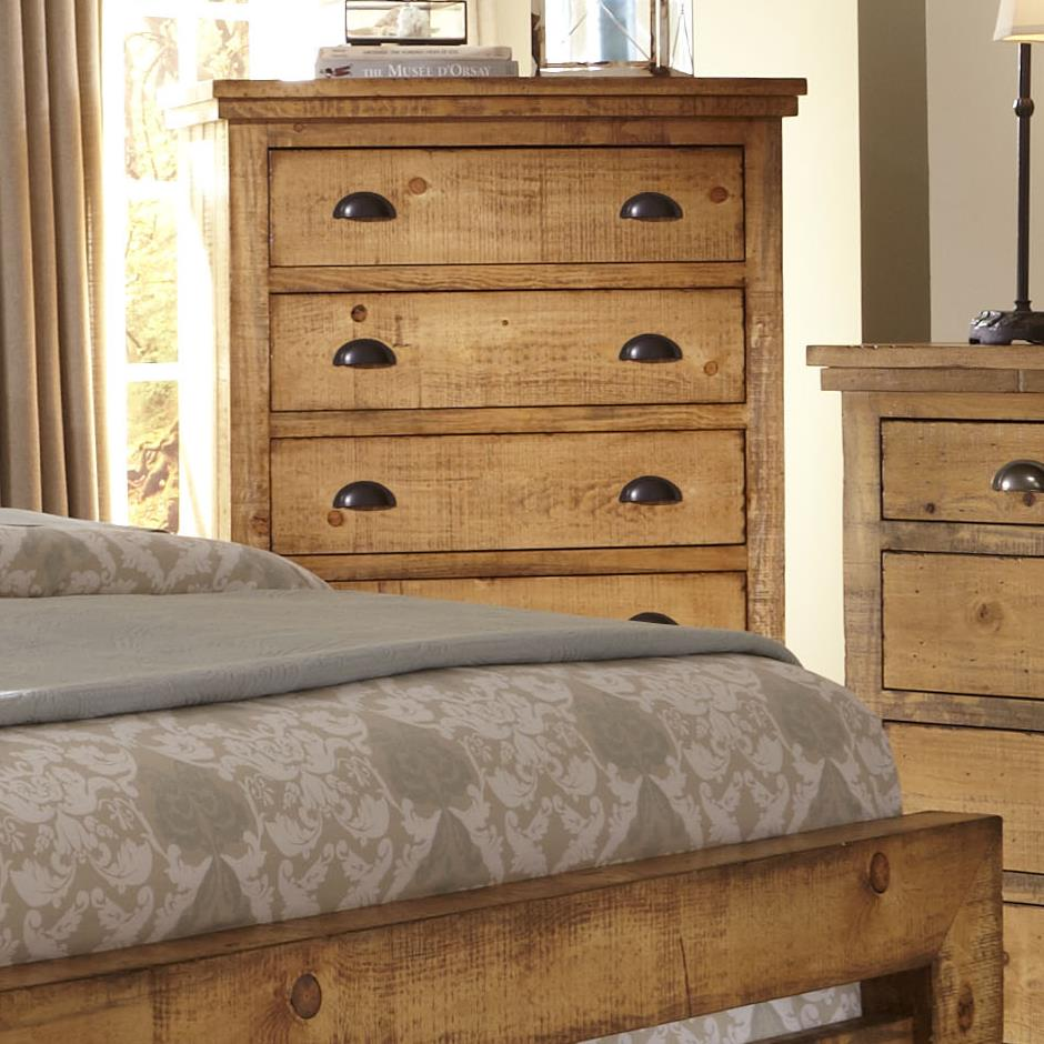 Progressive Furniture Willow P608 14 Distressed Pine Chest Hudson 39 S Furniture Drawer Chests
