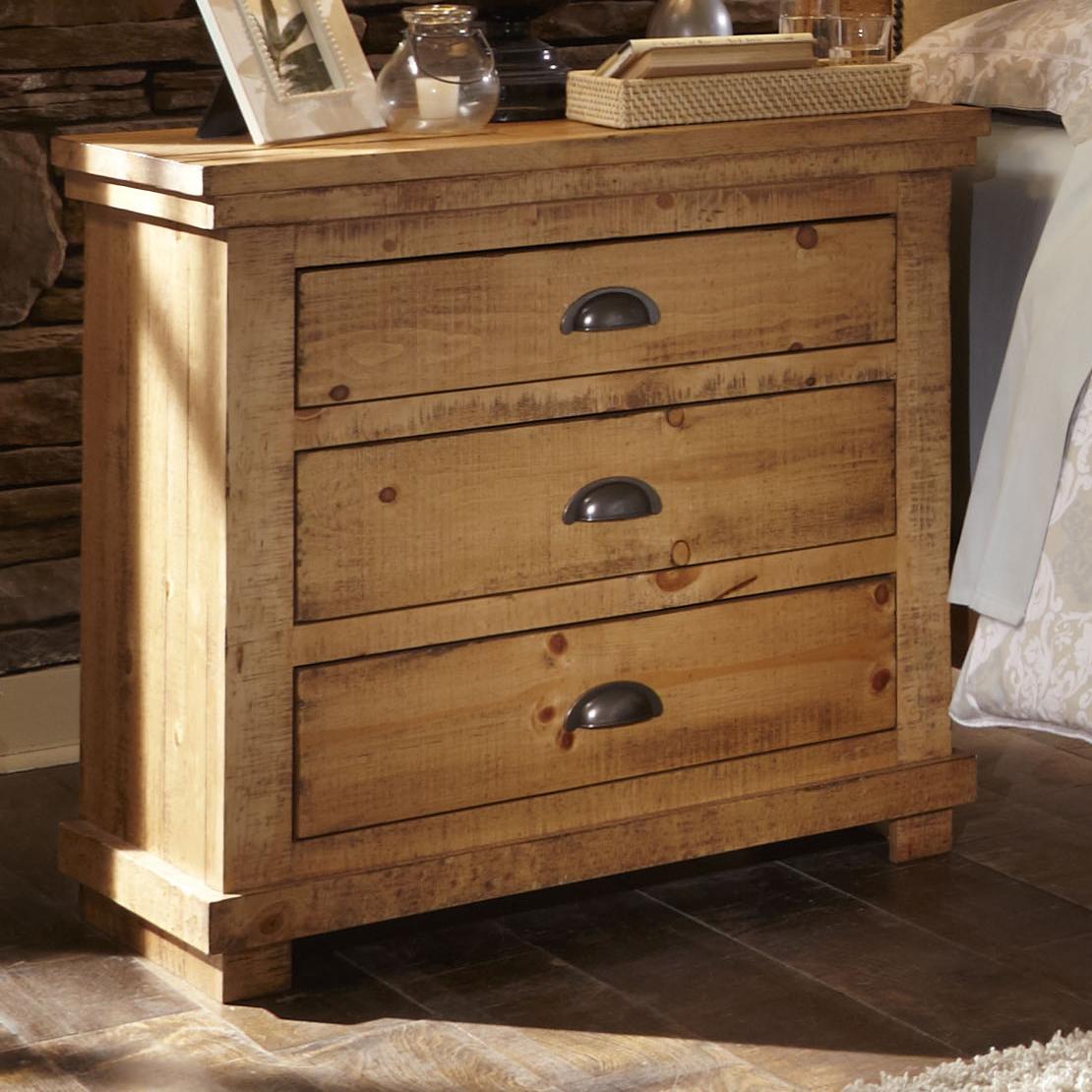 Progressive furniture willow p608 43 distressed pine for Hudsons furniture