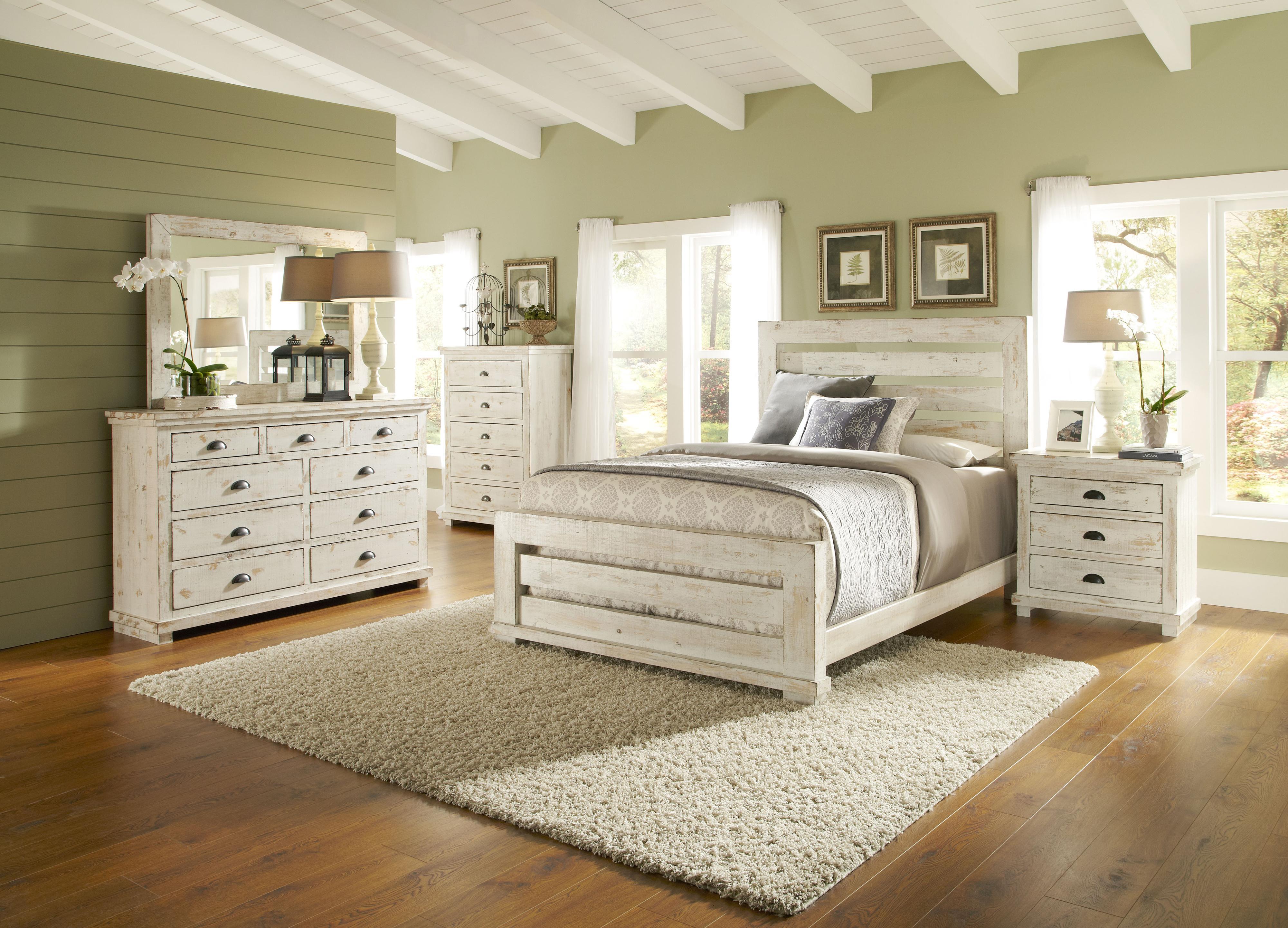 Progressive furniture willow distressed pine nightstand van hill furniture night stands for Distressed pine bedroom furniture