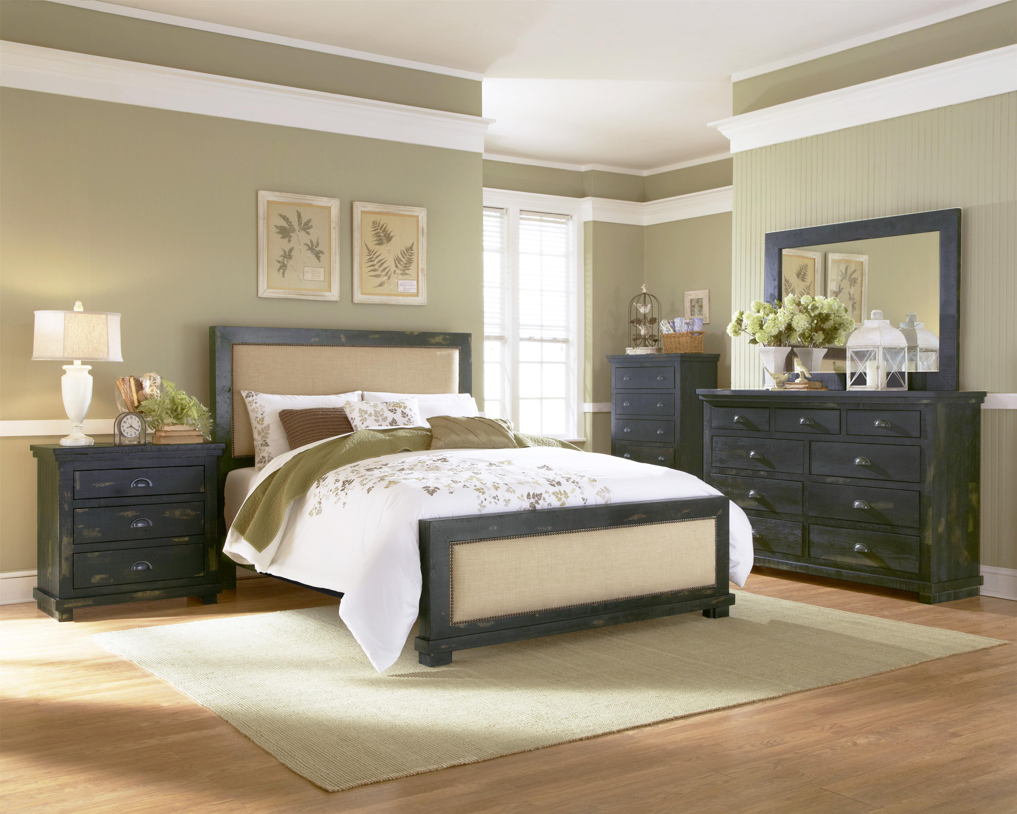 Progressive furniture willow queen bedroom group wayside for Bedroom furniture groups