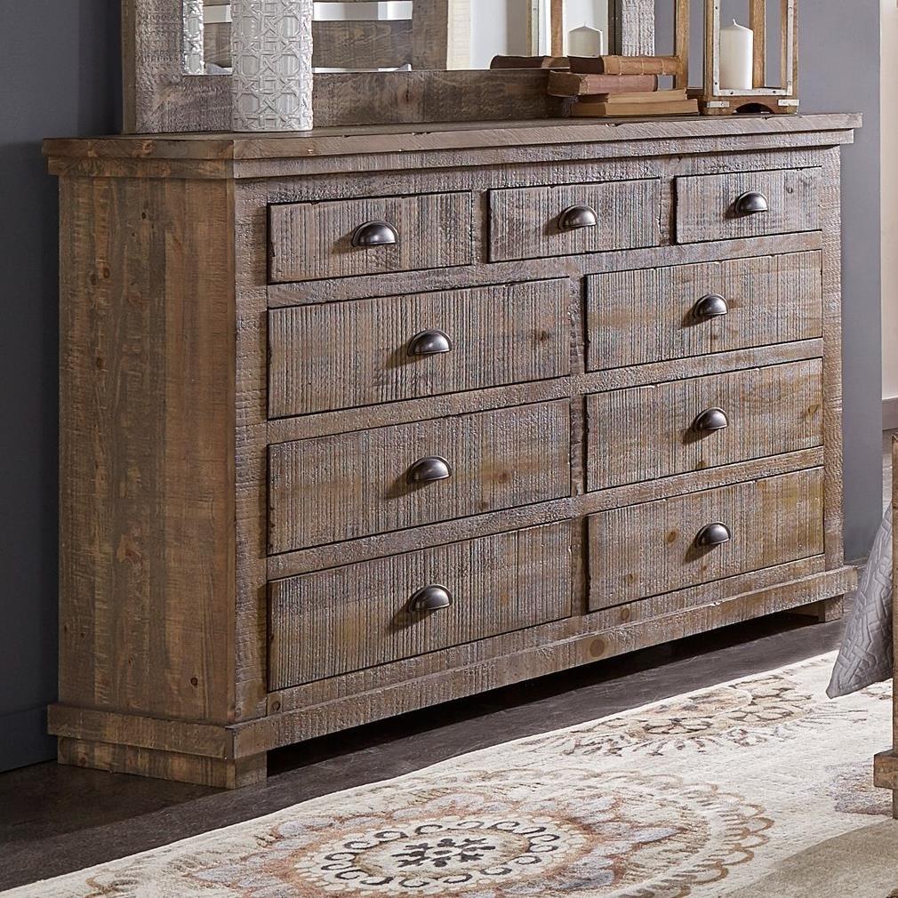 Progressive Furniture Willow P635 23 Distressed Pine Drawer Dresser Hudson 39 S Furniture Dressers