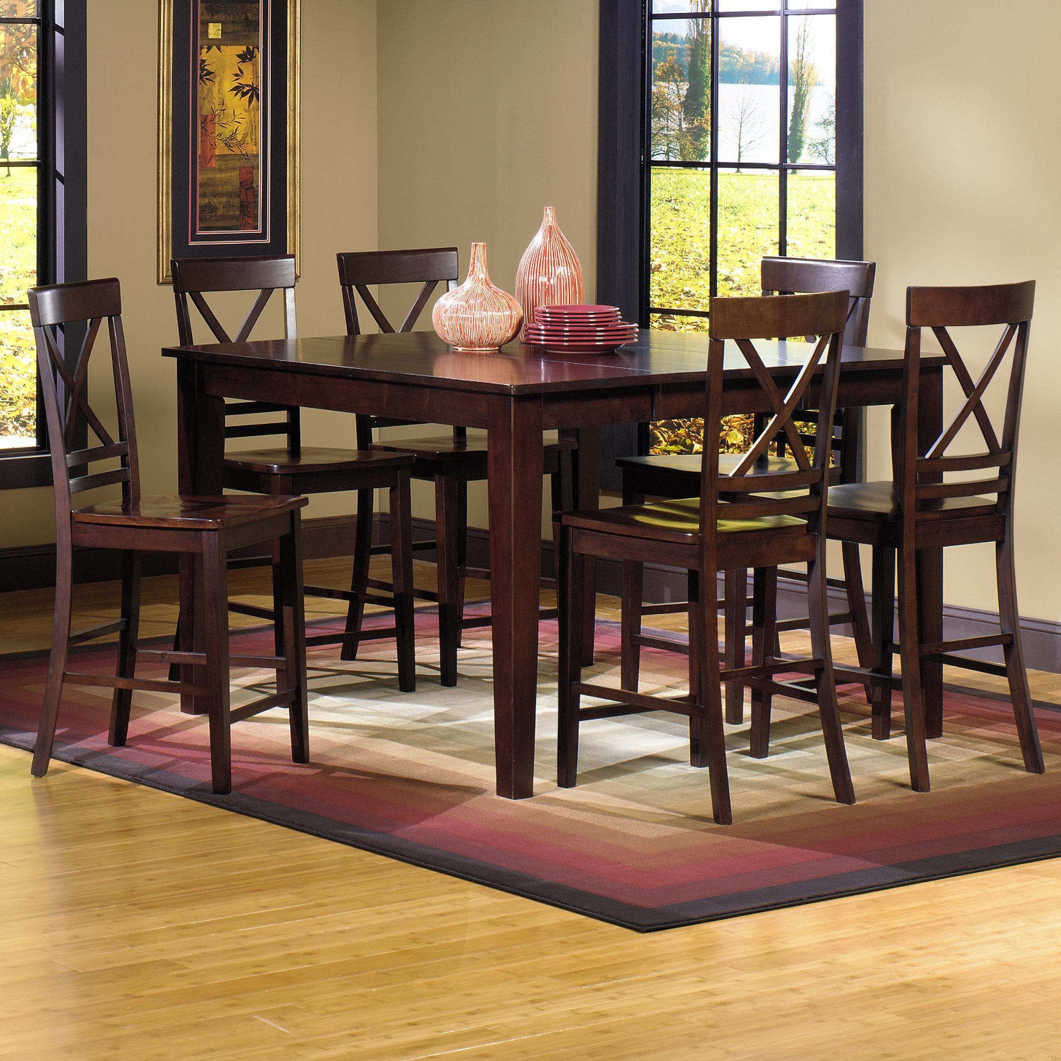 Progressive furniture winston 7 piece counter dining table for Hudsons furniture