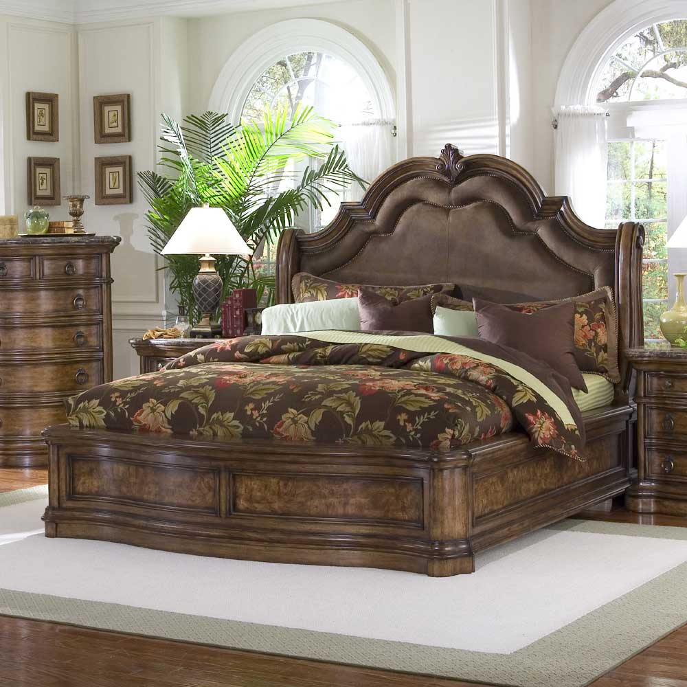 Pulaski furniture san mateo queen microfiber upholstered for Pulaski furniture