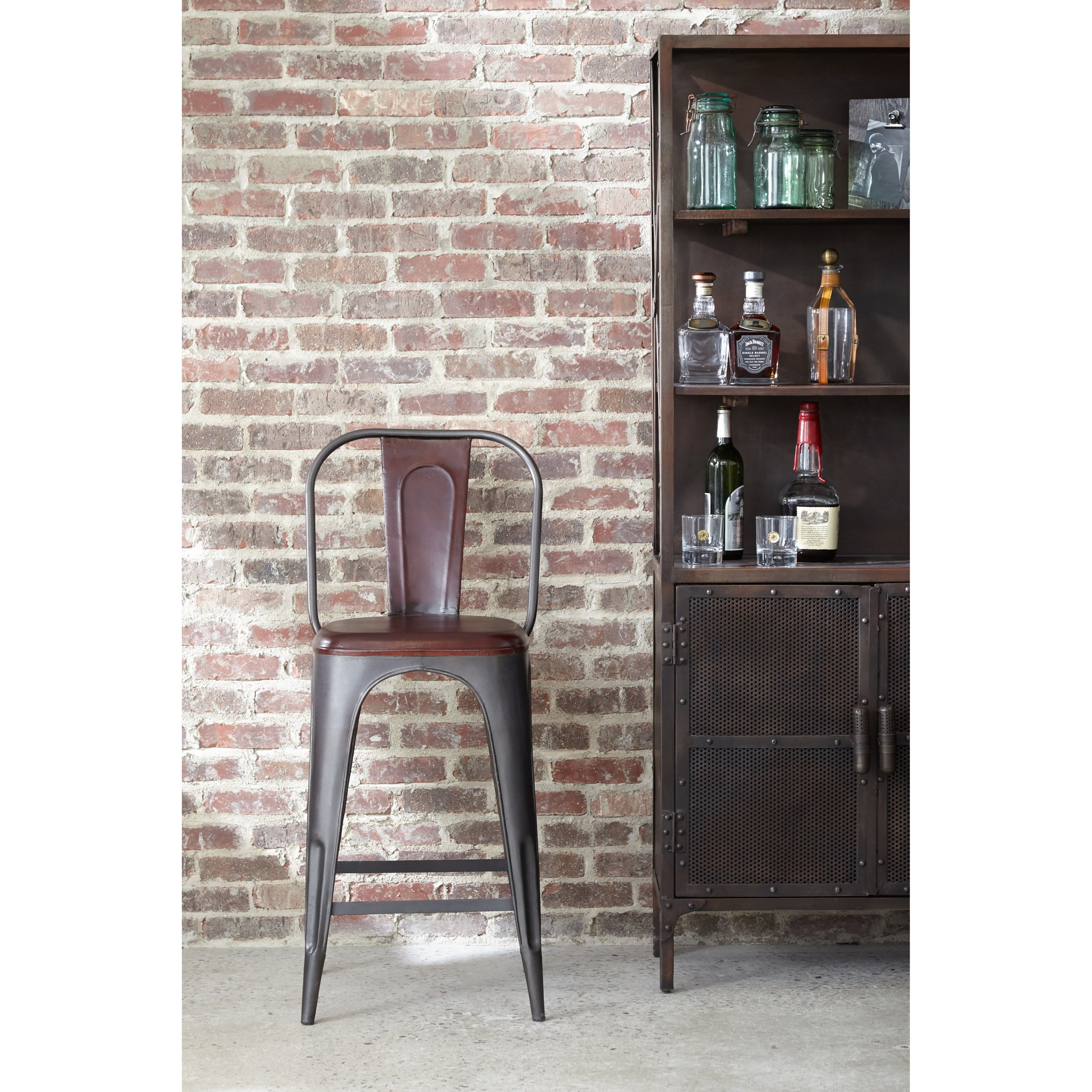Pulaski Furniture Accents Rowan Bar Stool With Formed Leather Jacksonville Furniture Mart