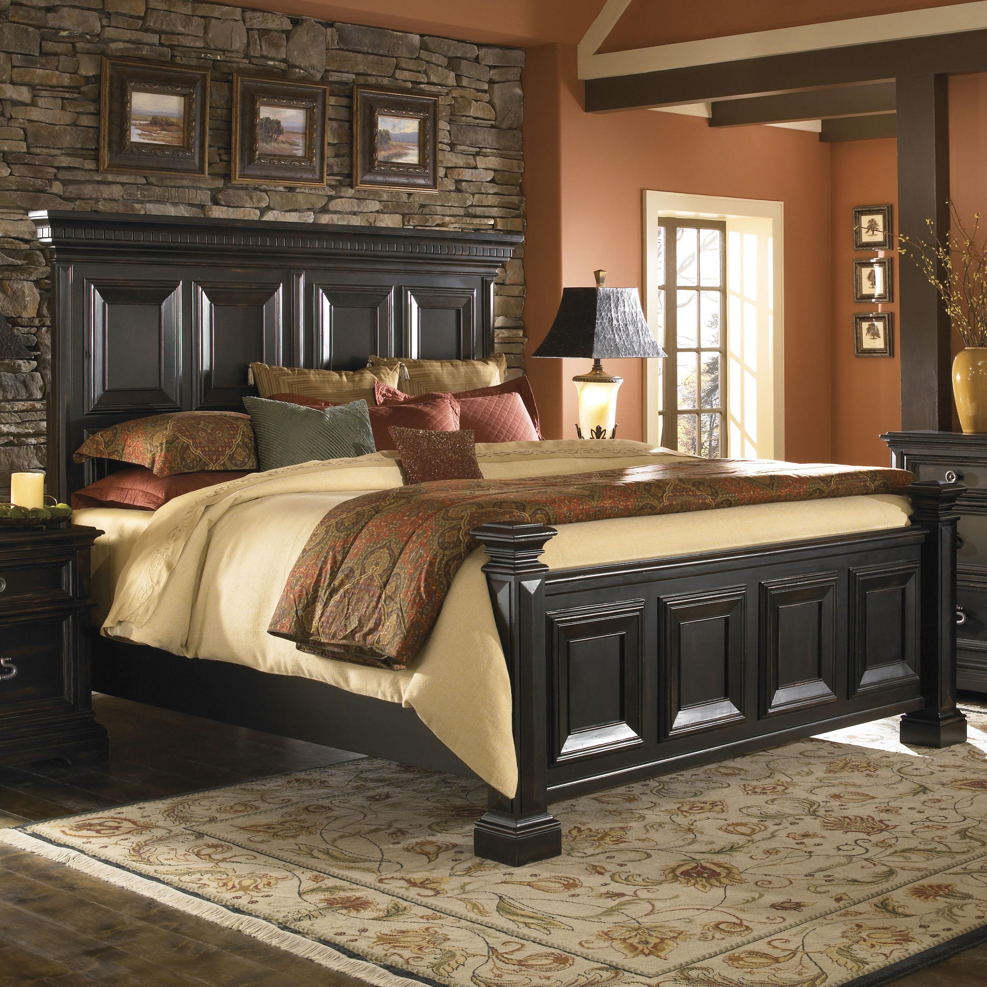 Pulaski furniture brookfield king panel bed darvin for Pulaski furniture