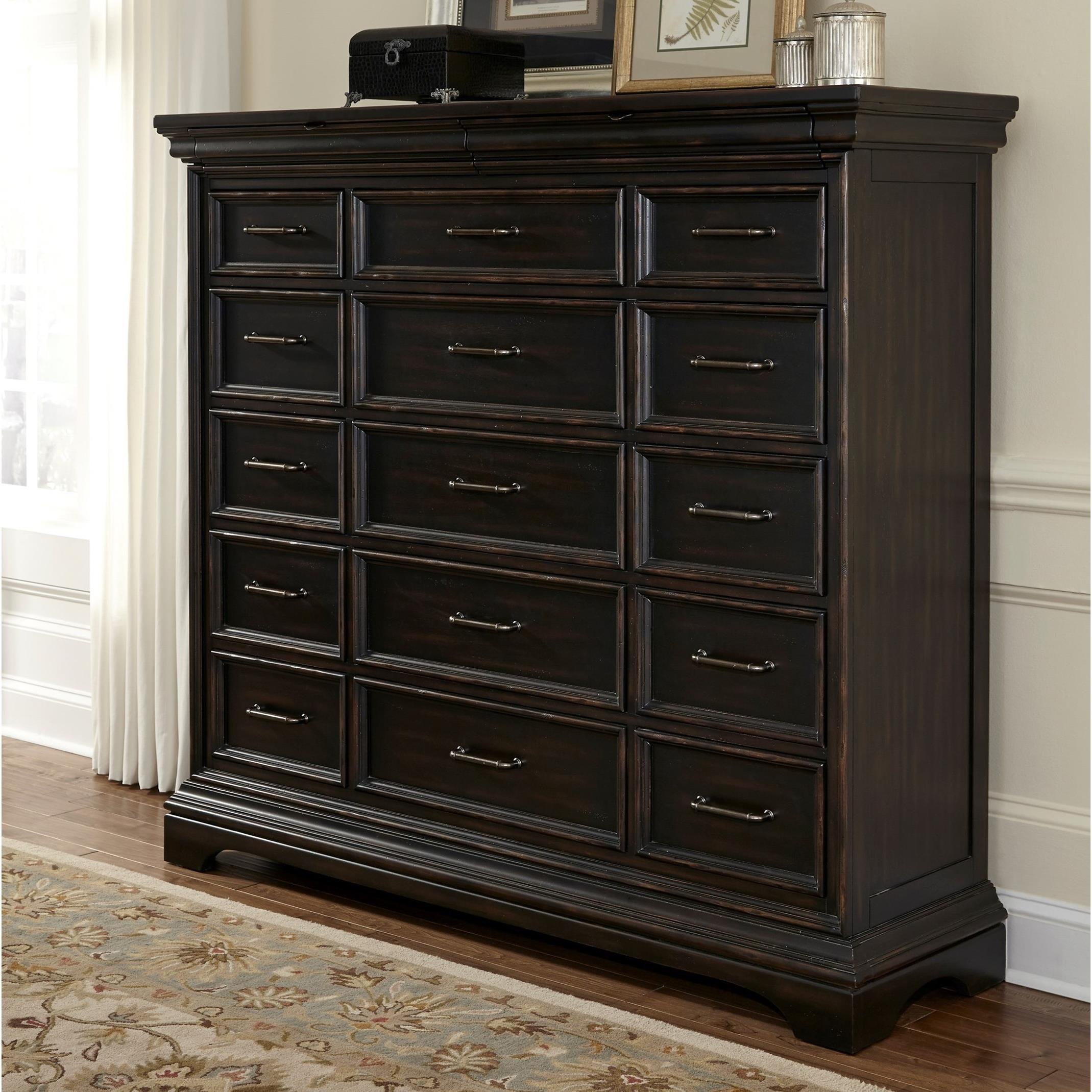 Pulaski Furniture Caldwell 17 Drawer Master Chest
