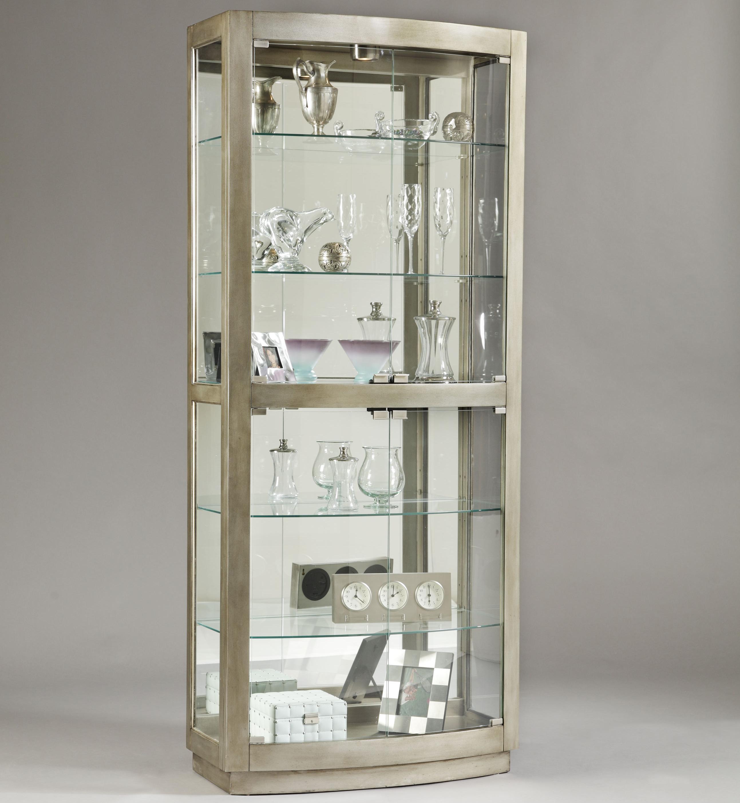 Pulaski furniture curios platinum curio cabinet for Cheap kitchen cabinets wilmington nc