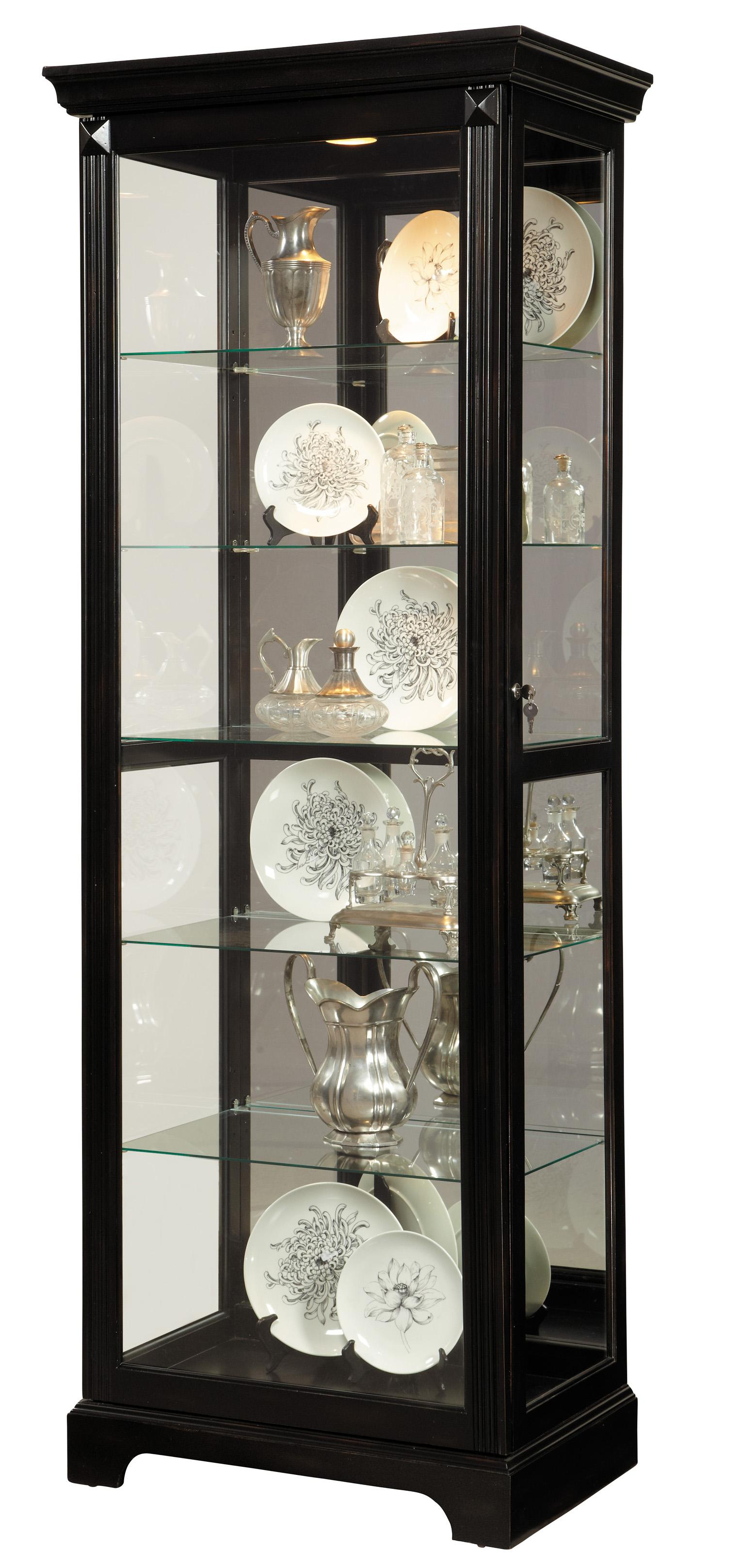 Pulaski furniture curios lit curio w mirror backing for Pulaski furniture