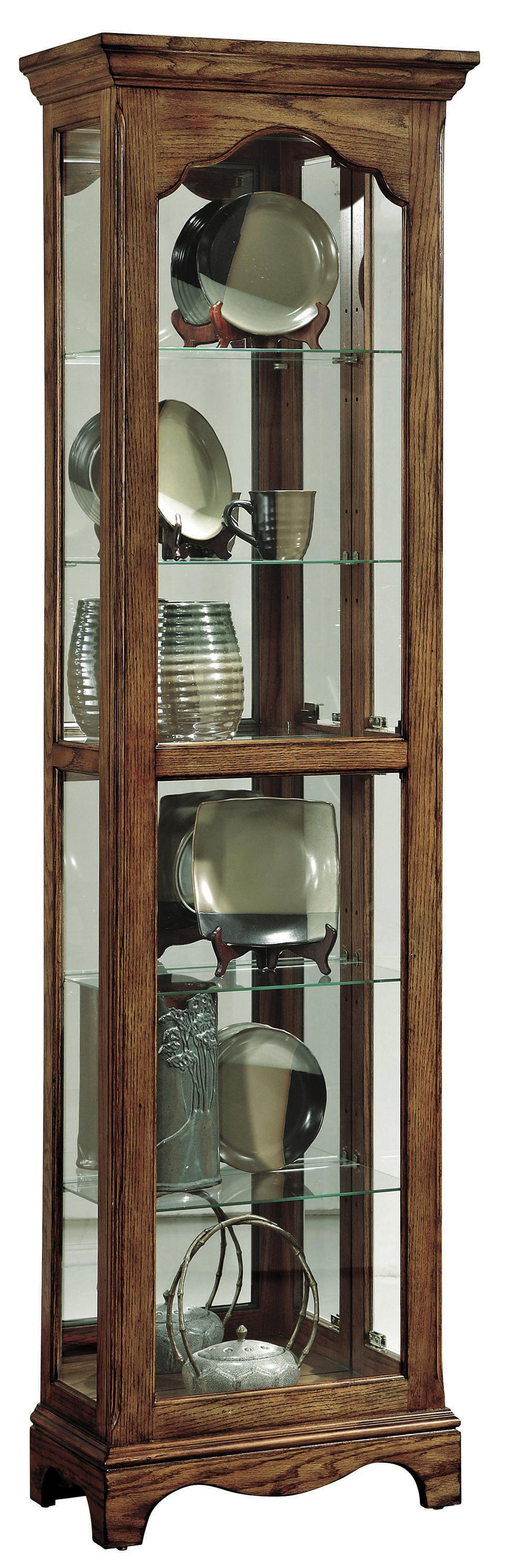 pulaski furniture curios narrow traditional curio cabinet john v