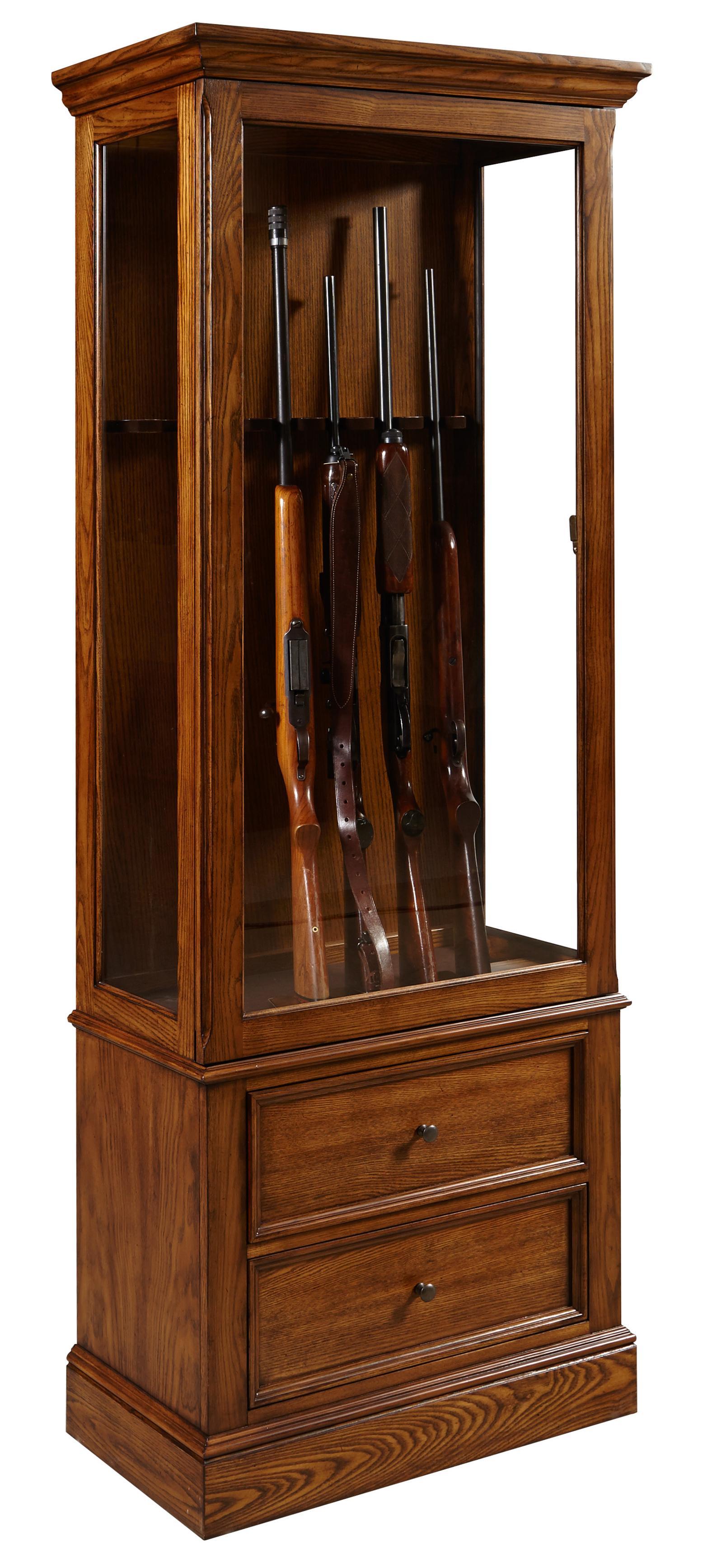 Pulaski furniture curios gun curio cabinet olinde 39 s for Pulaski furniture