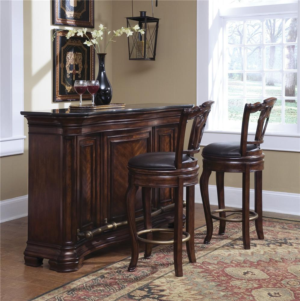 Pulaski Furniture Accents Toscano Vialetto Bar Set With Stools Dunk Bright Furniture Bar Sets