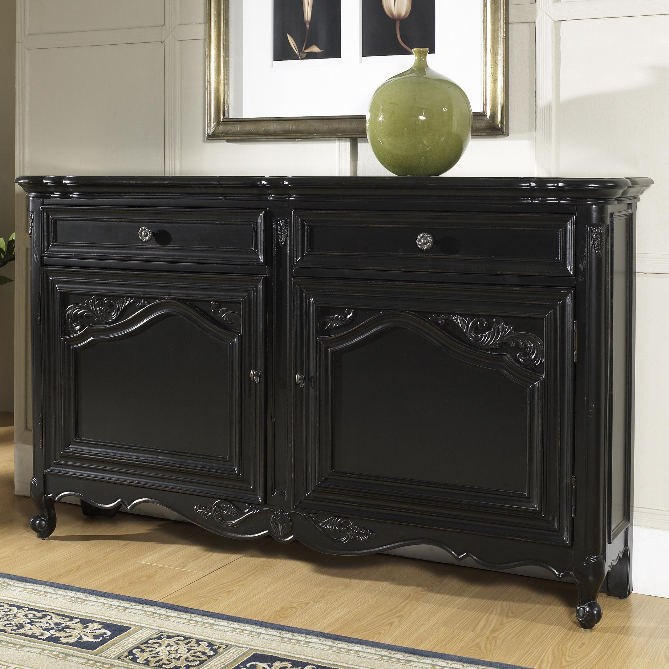 Pulaski furniture accents 917006 hall console table with for Pulaski furniture