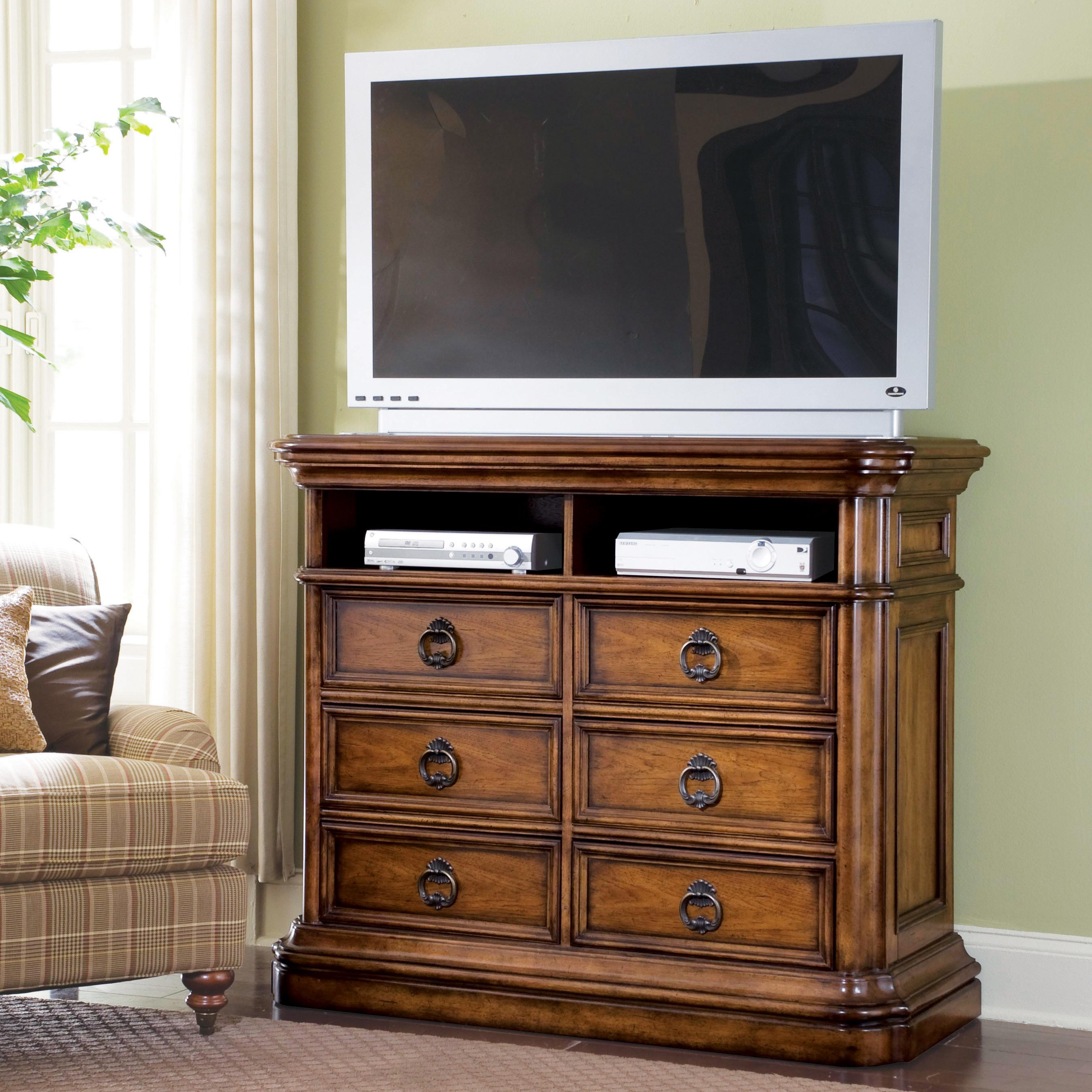 Pulaski furniture san mateo media chest with drawers for Ivan smith furniture
