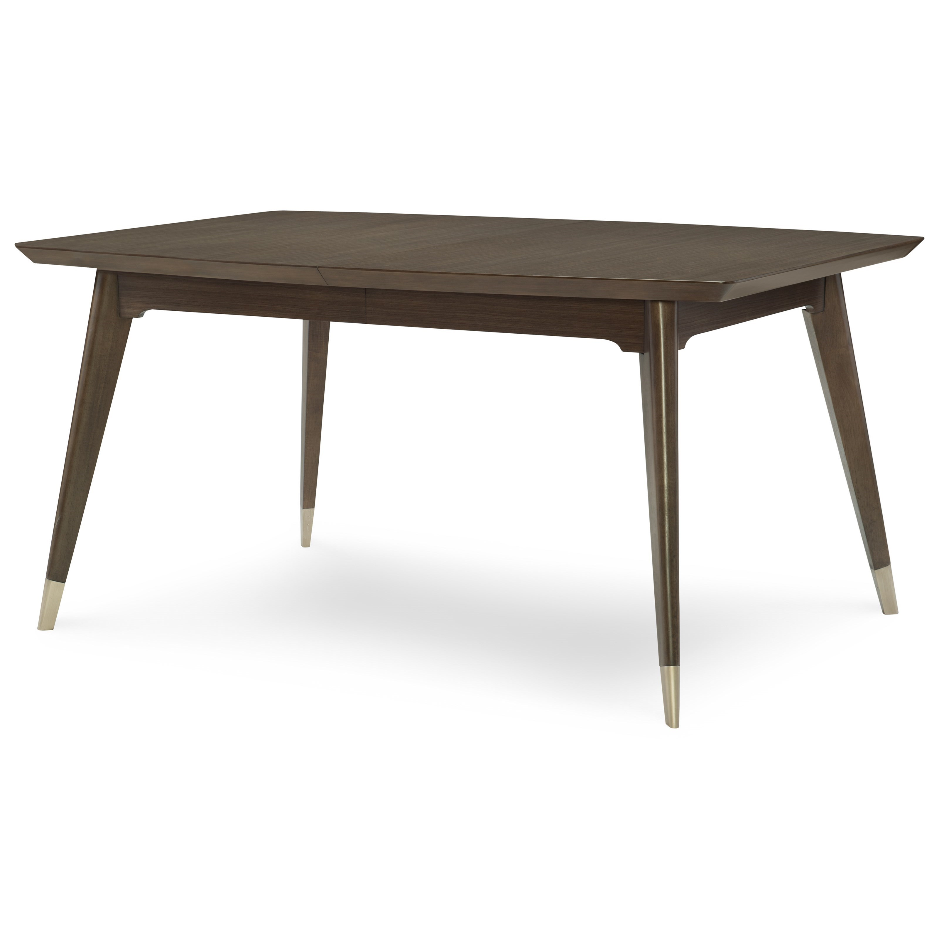 Rachael ray home soho mid century modern rectangular table for Rectangular dining room tables with leaves