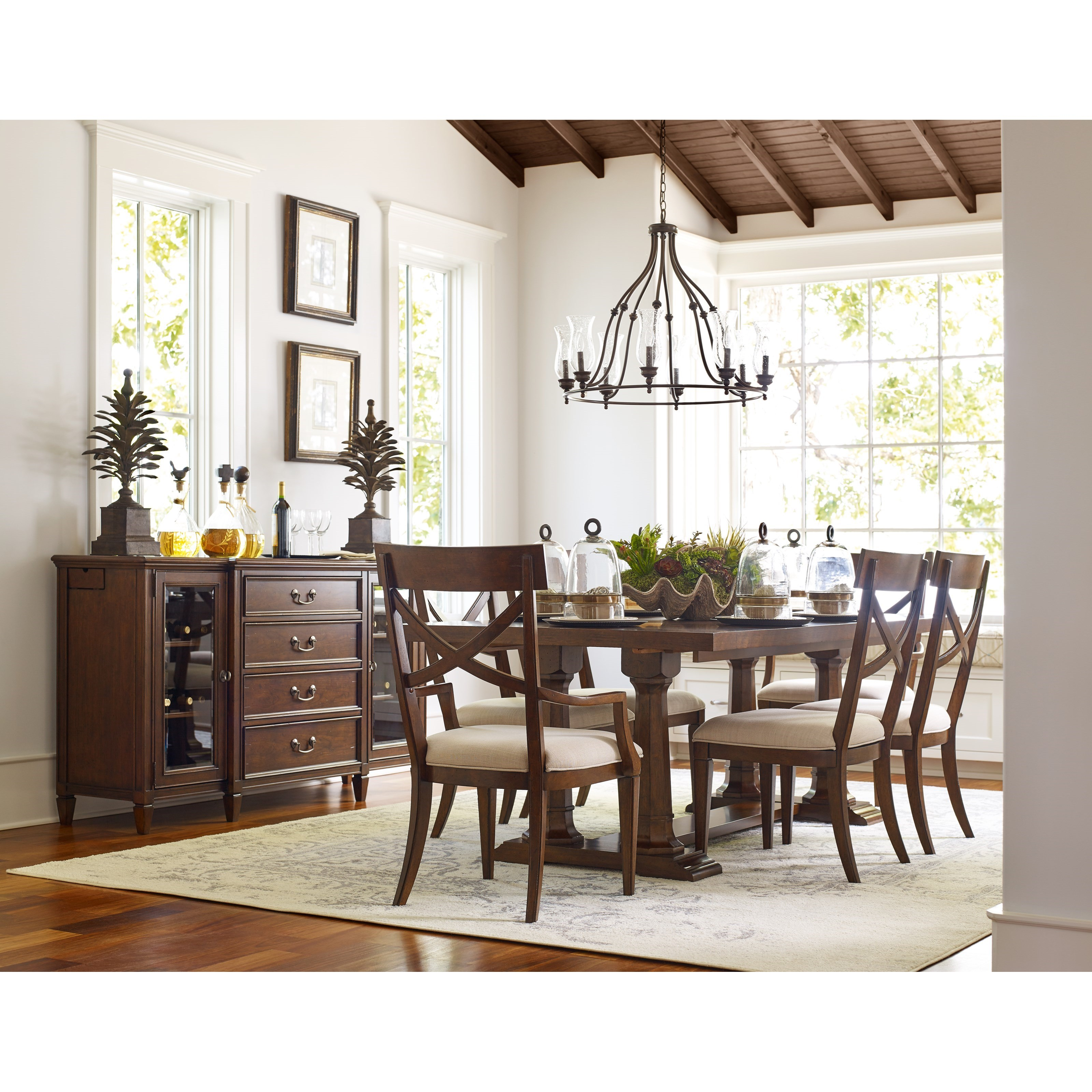 Rachael ray home by legacy classic upstate x back arm for Legacy classic dining room furniture