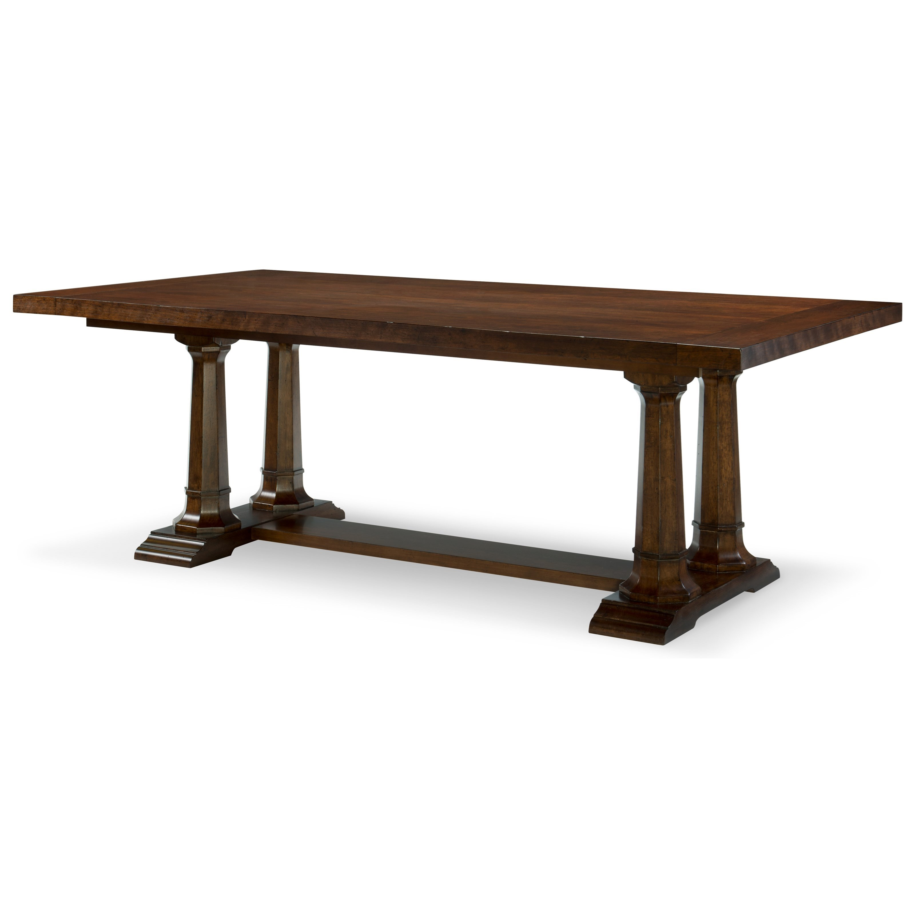 Rachael ray home by legacy classic upstate trestle table for Legacy classic dining table