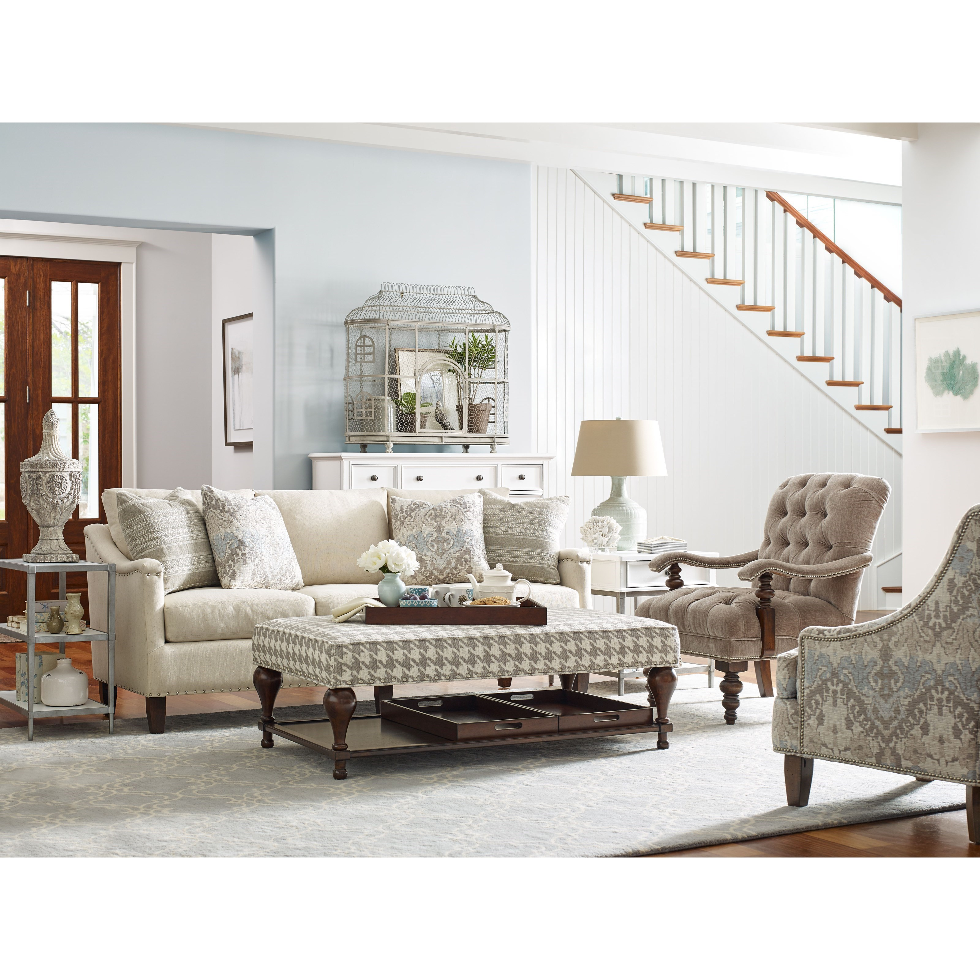 rachael ray home by craftmaster upstate saratoga sofa with. Black Bedroom Furniture Sets. Home Design Ideas