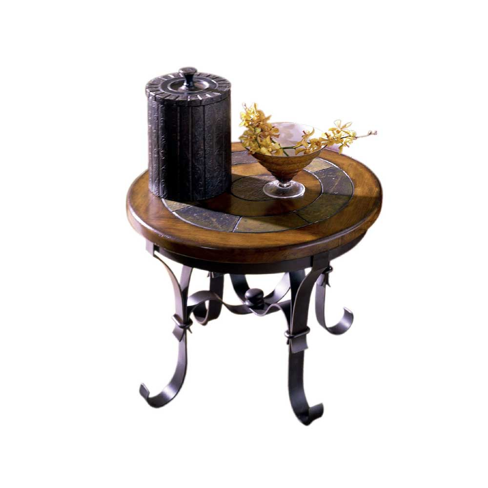 furniture end tables riverside furniture stone forge round end table