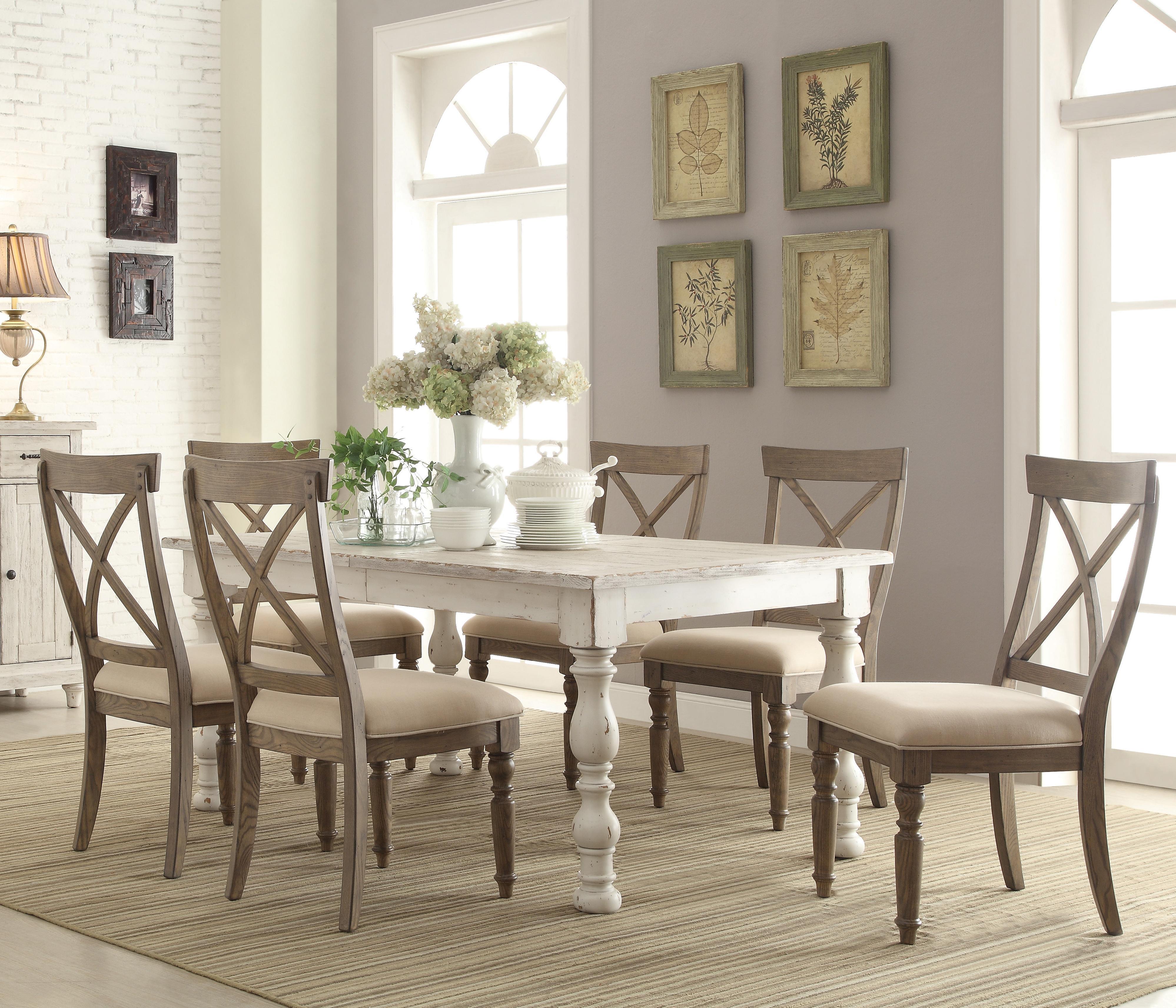 riverside furniture aberdeen 7 piece farmhouse dining set value city furniture dining 7 or. Black Bedroom Furniture Sets. Home Design Ideas