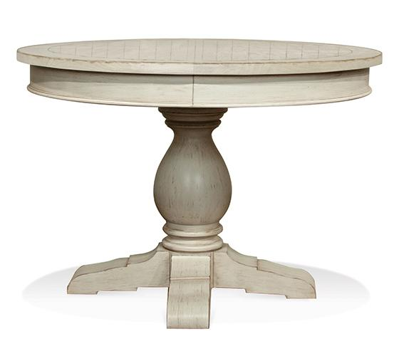 Riverside furniture aberdeen round pedestal dining table for 52 kitchen table