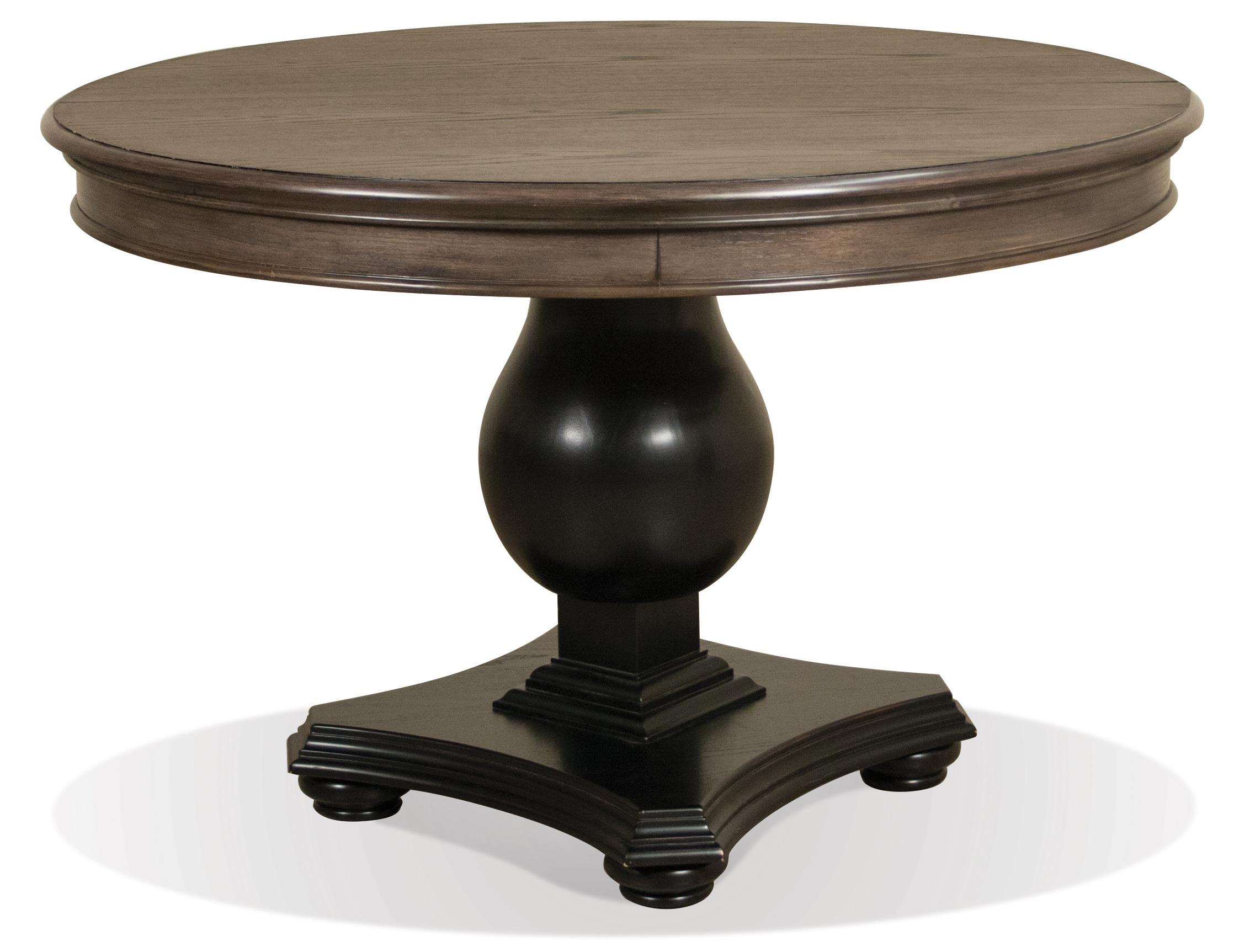 Riverside furniture belmeade round extension dining table for Round table 52 nordenham