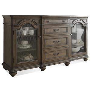 glass for kitchen cabinets riverside furniture belmeade large bookcase w glass doors 15859