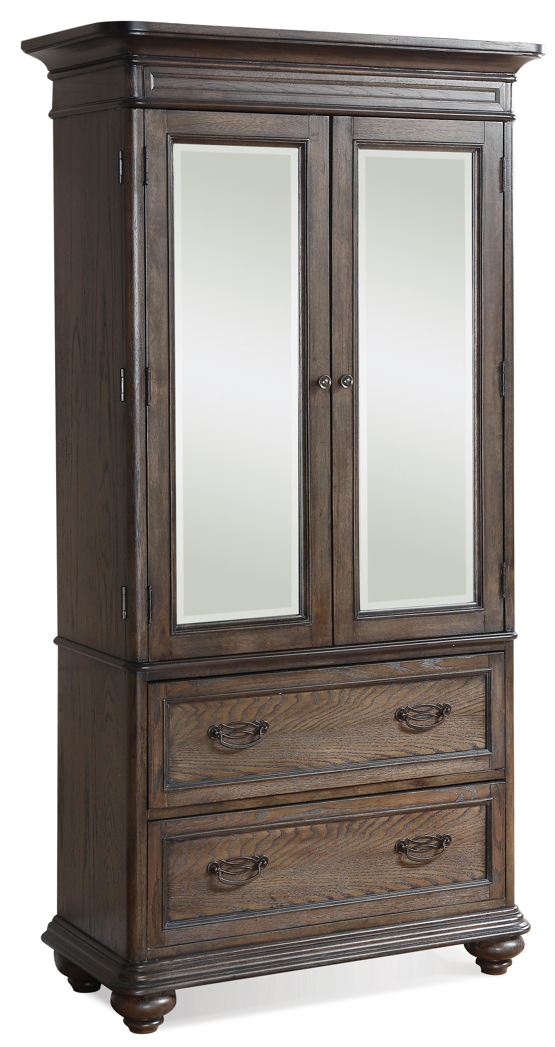 riverside furniture belmeade 15866 two door armoire w. Black Bedroom Furniture Sets. Home Design Ideas