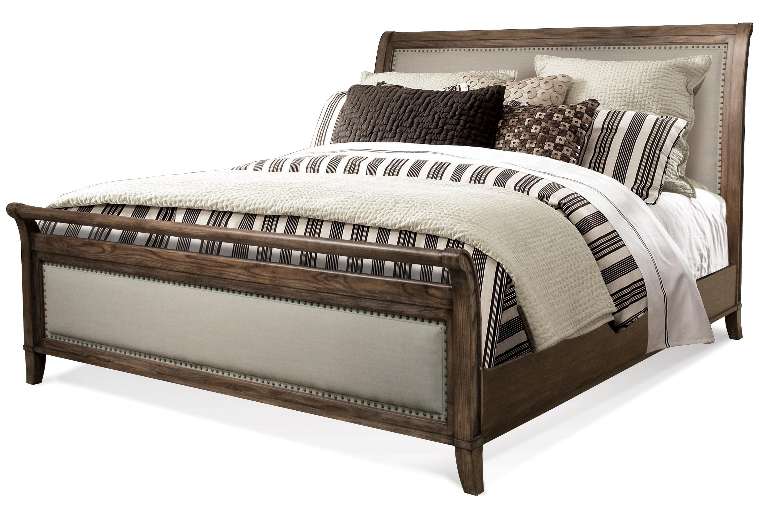 Belmeade Cal King Sleigh Upholstered Bed By Riverside