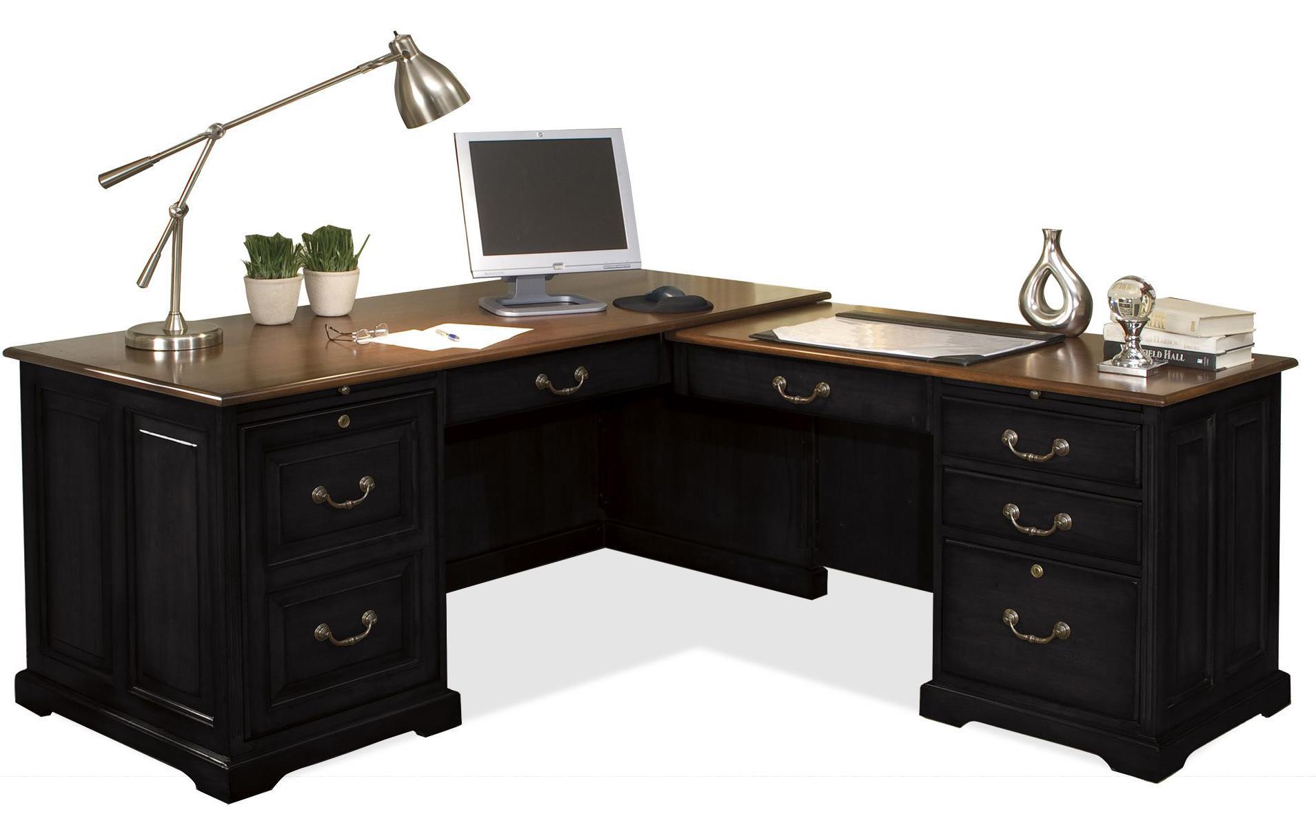 Riverside furniture bridgeport l shaped computer for Best workstation table