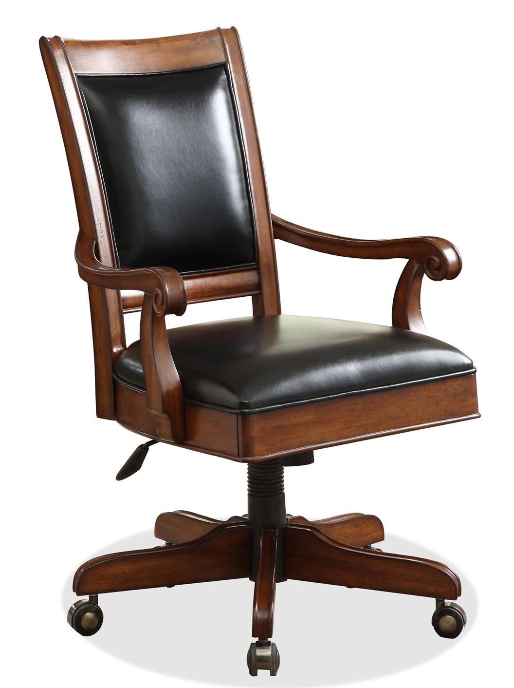 Riverside furniture bristol court 24538 caster equipped for Wooden office desk chair