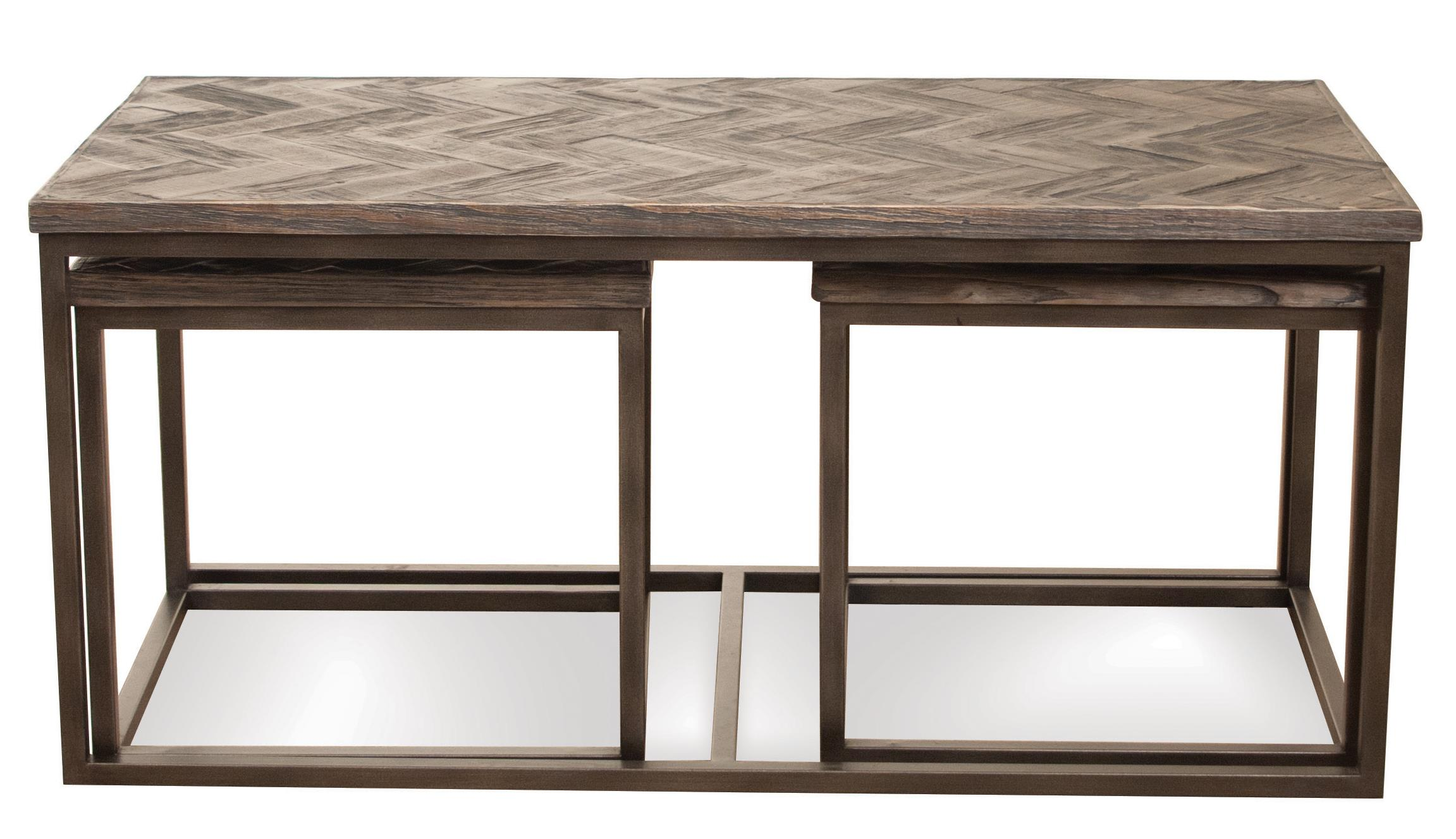 Riverside Furniture Chevron 3 Pc Rectangular Nesting Coffee Table Wayside Furniture Cocktail