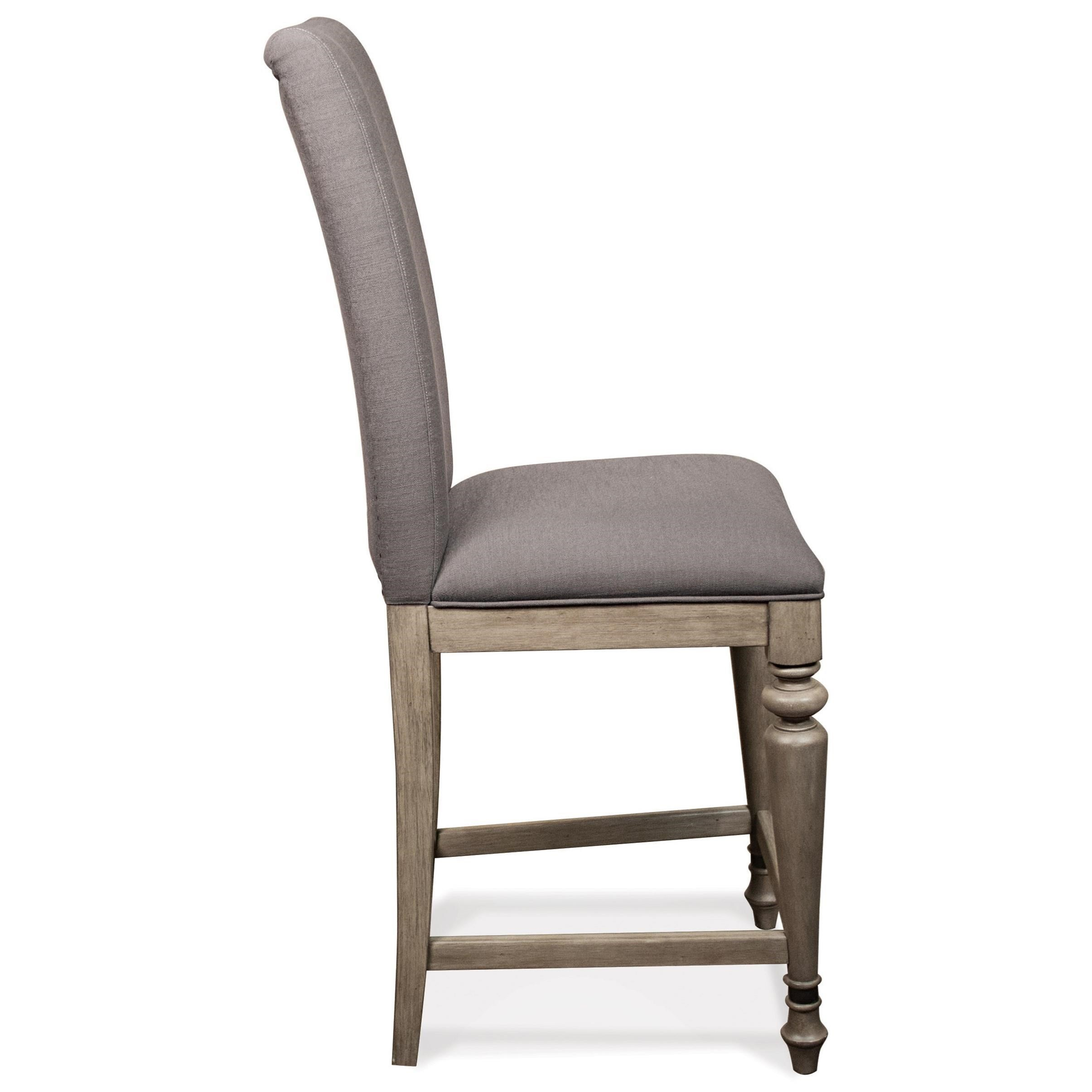Riverside Furniture Corinne Upholstered Counter Stool With