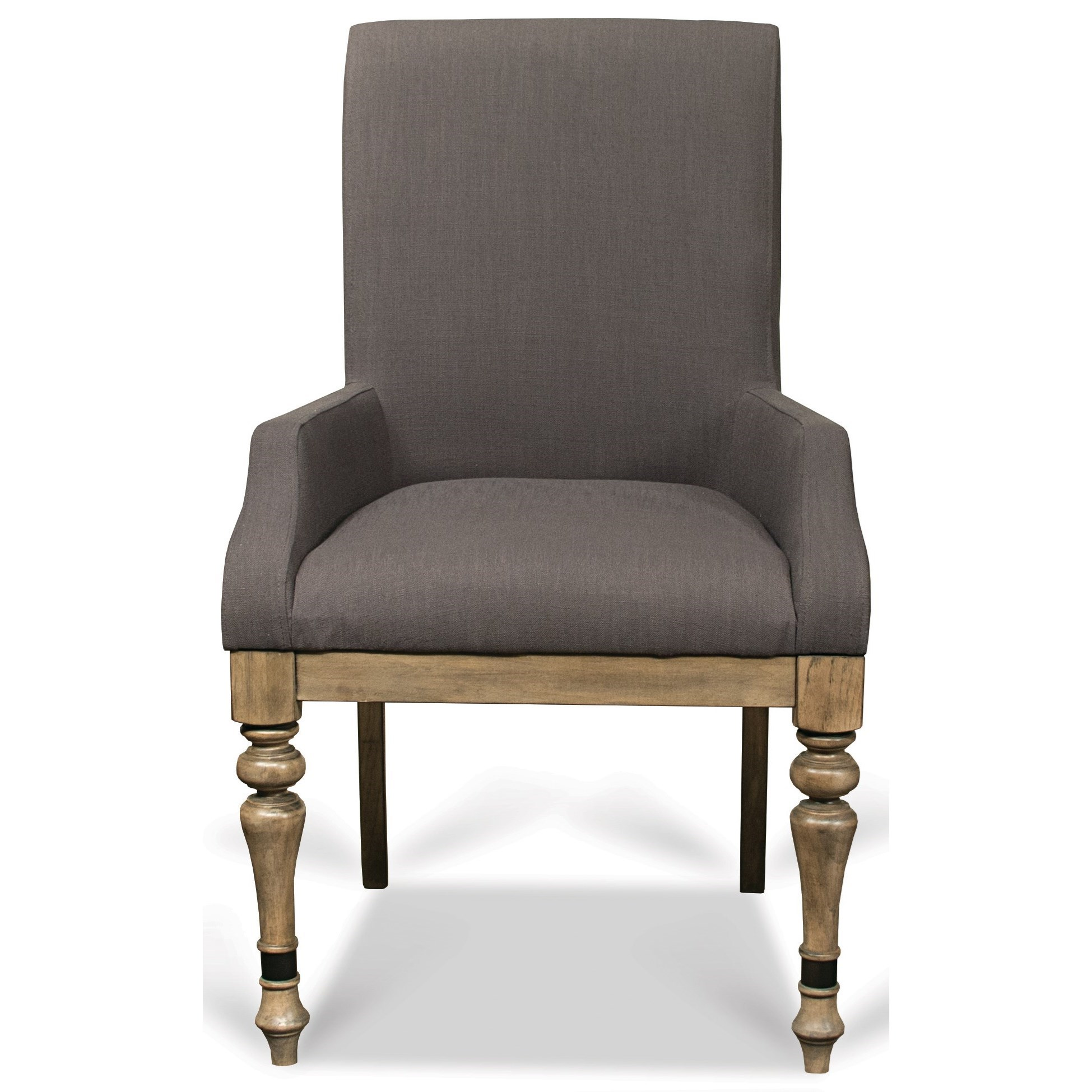 Riverside furniture corinne upholstered arm chair with for Wayside furniture