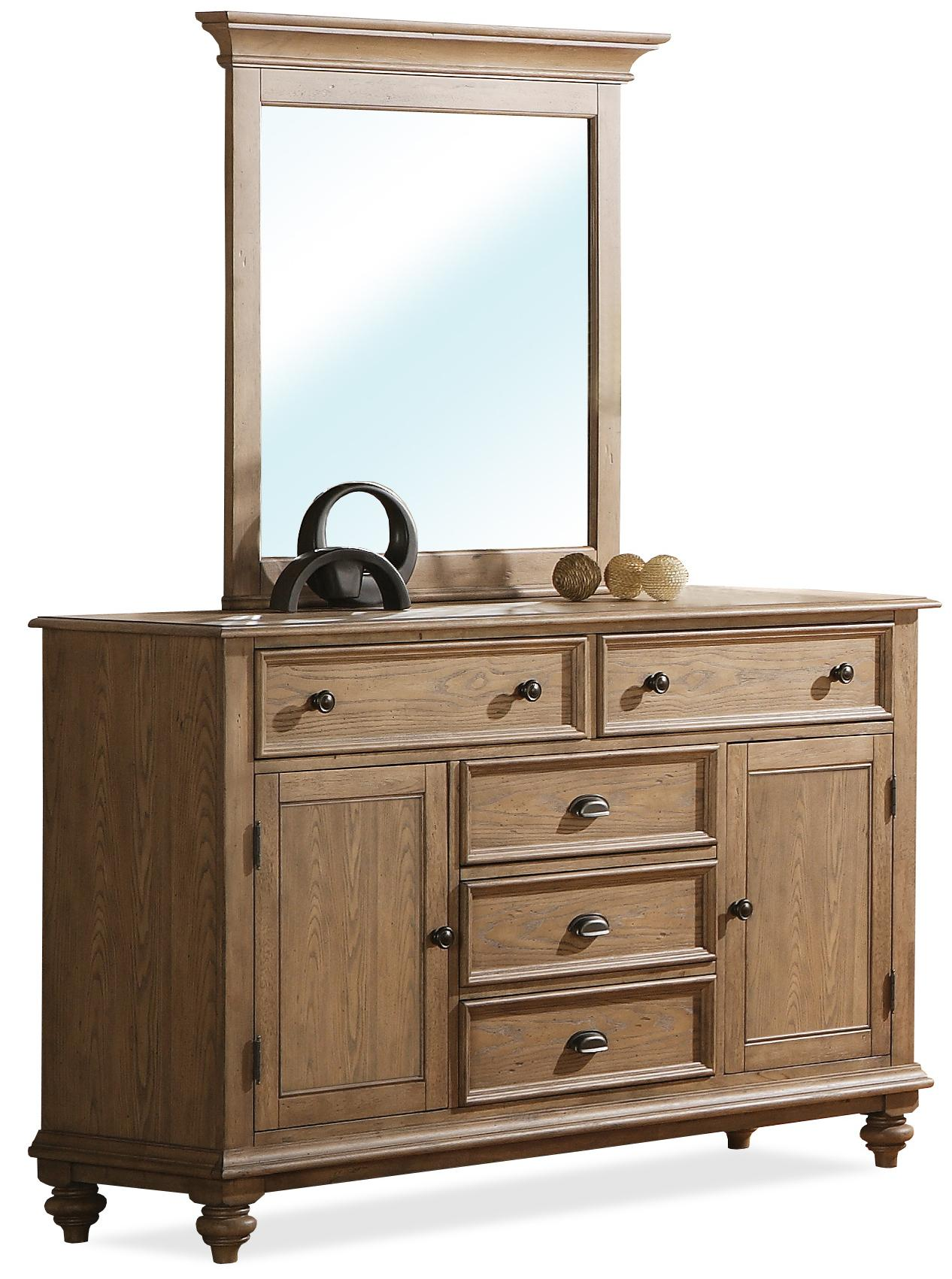 Riverside furniture coventry panel door dresser mirror for Hudsons furniture