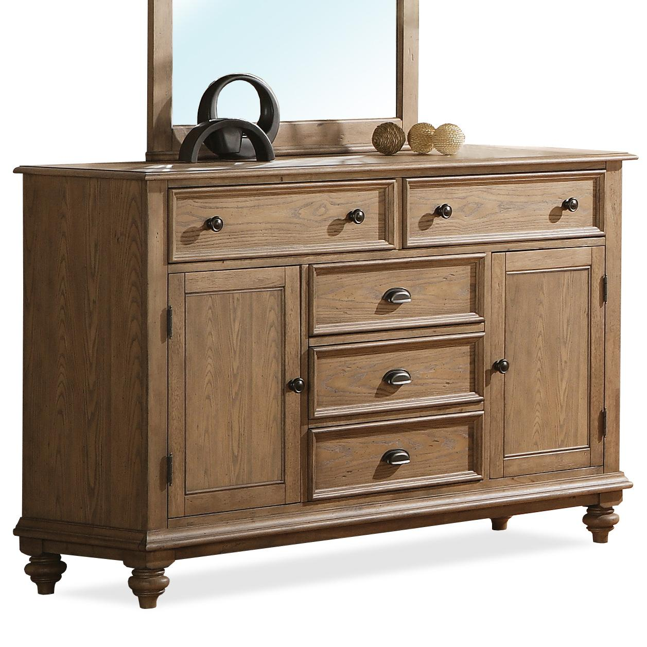Riverside Furniture Coventry Panel Door Dresser With 5 Drawers Knight Furniture Mattress