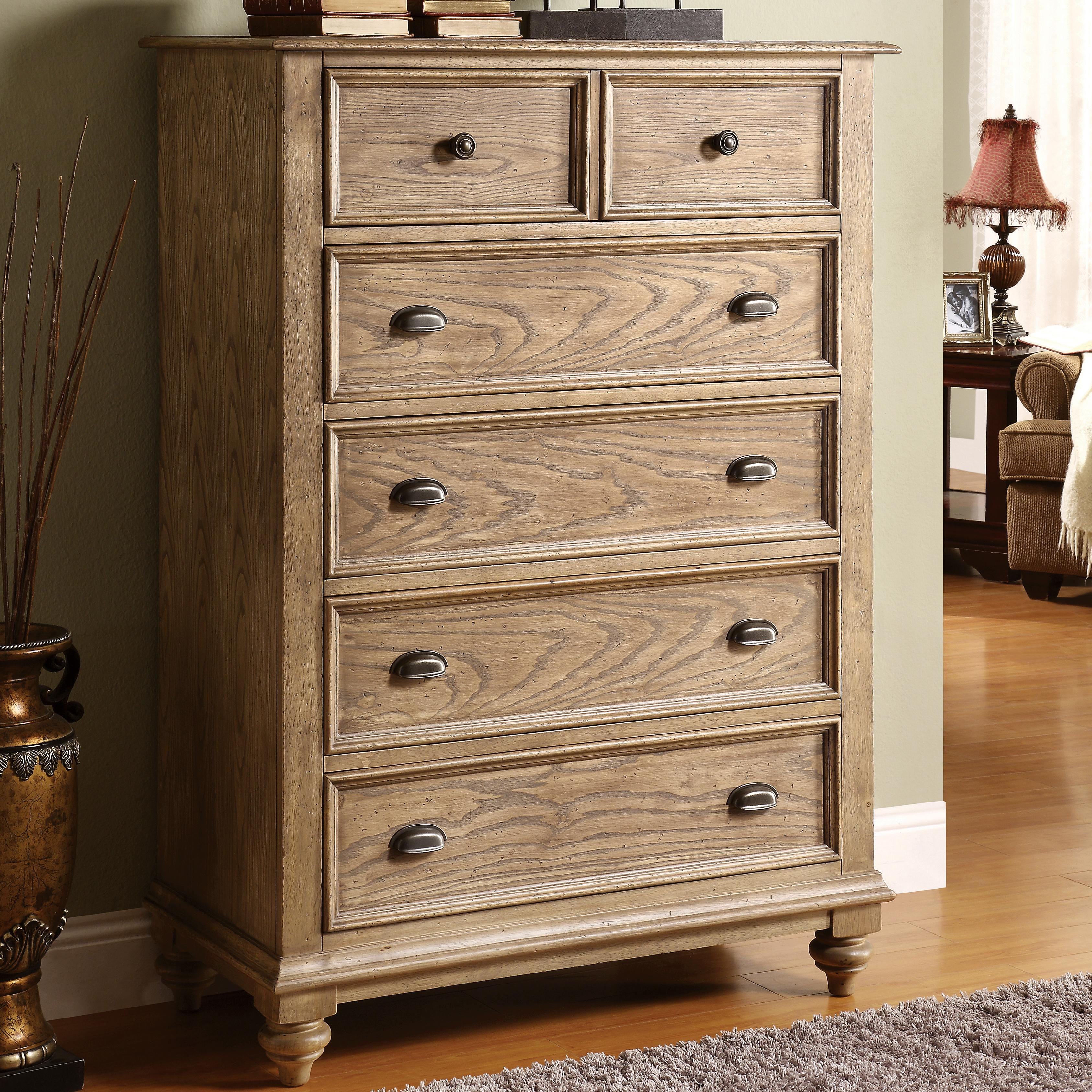 Riverside Furniture Coventry 32465 Tall 5 Drawer Chest With Bun Feet Dunk Bright Furniture