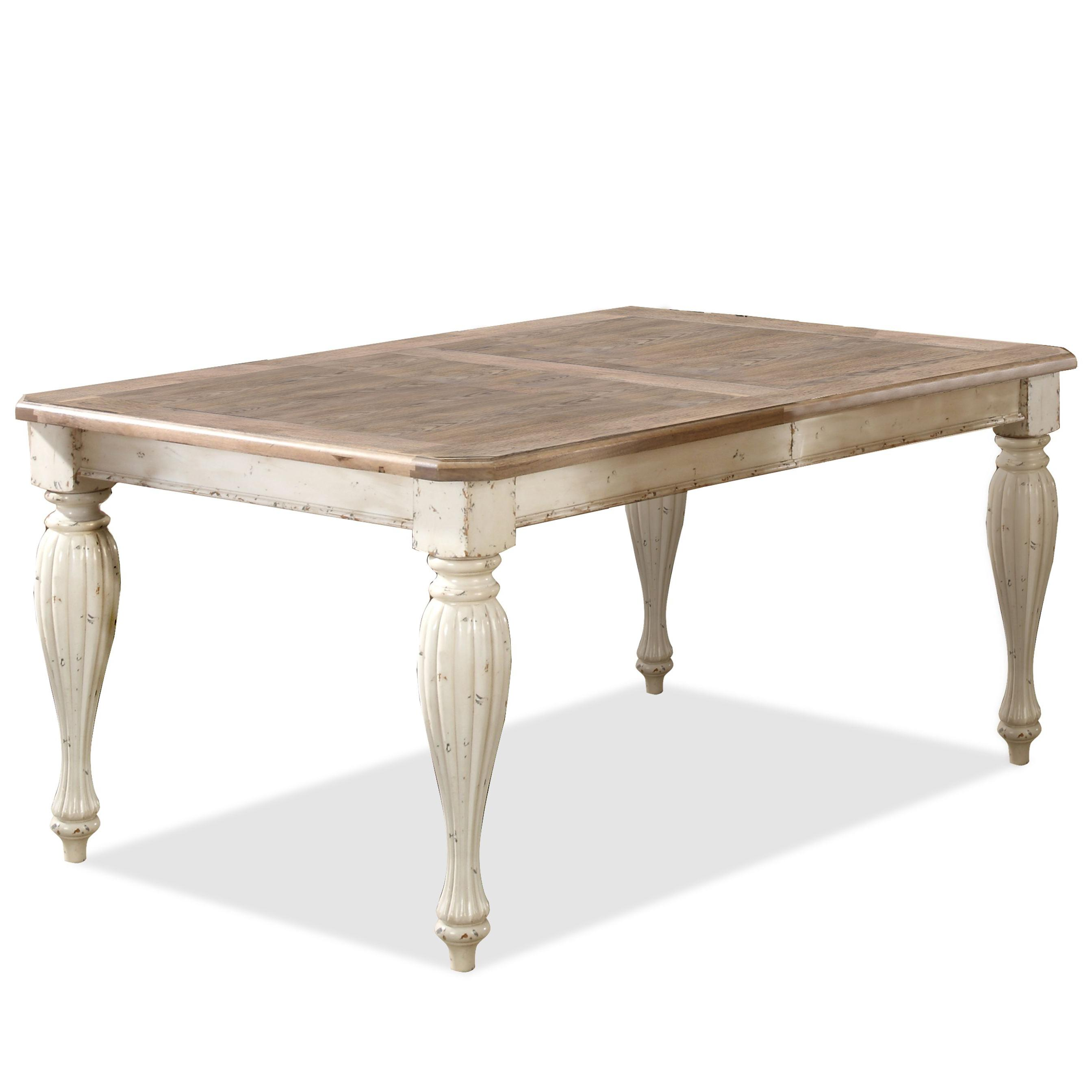 Riverside furniture coventry two tone 32550 rectangular for Rectangular dining room tables with leaves