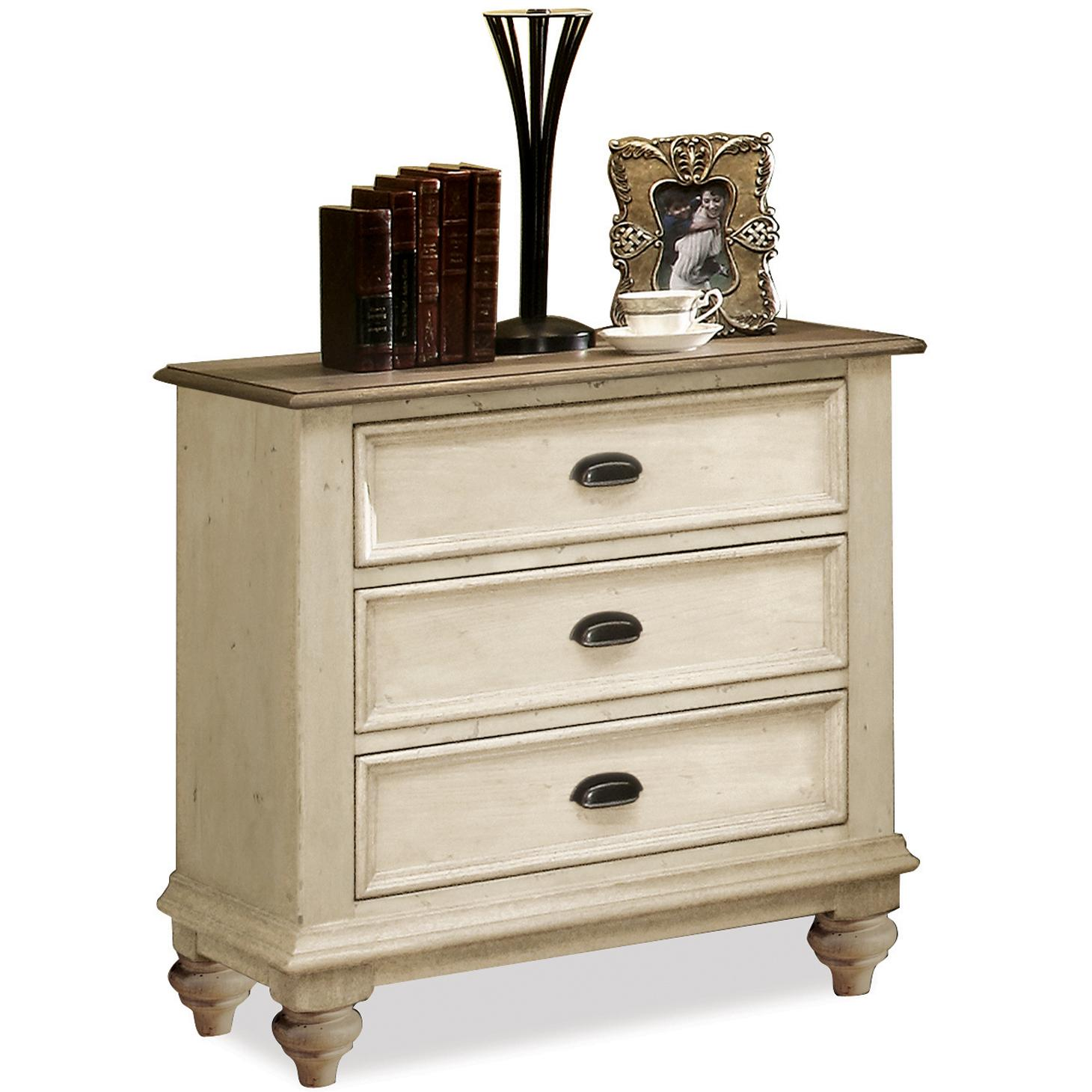 Riverside Furniture Coventry Two Tone 3 Drawer Night Stand Prime Brothers Furniture Night Stand