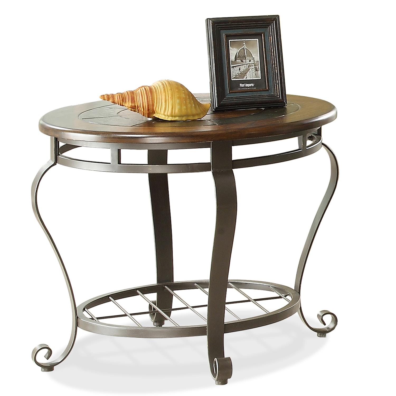 Riverside Furniture Eastview Round End Table w Shelf