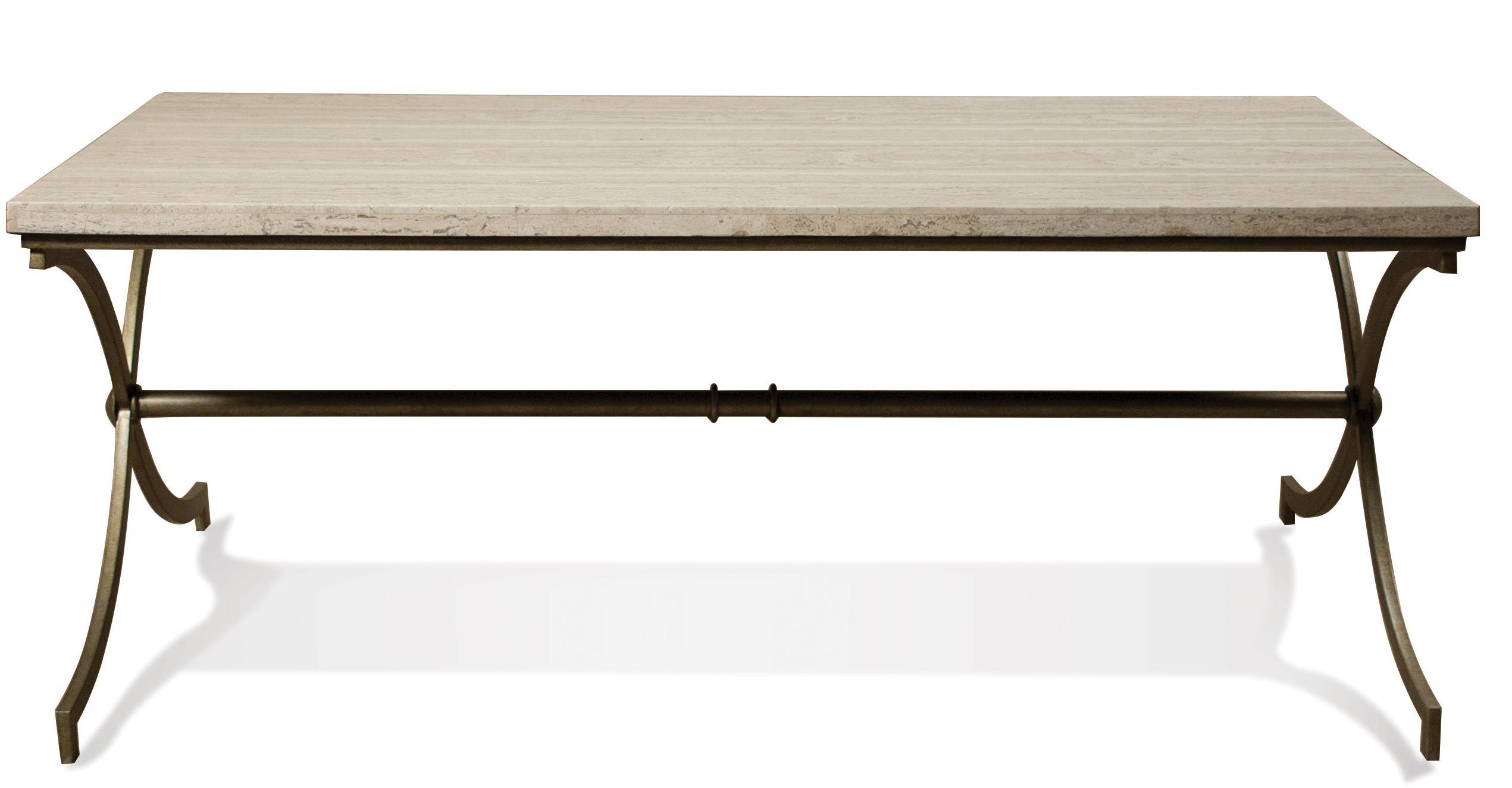 Riverside furniture elan travertine coffee table value for Coffee tables value city furniture
