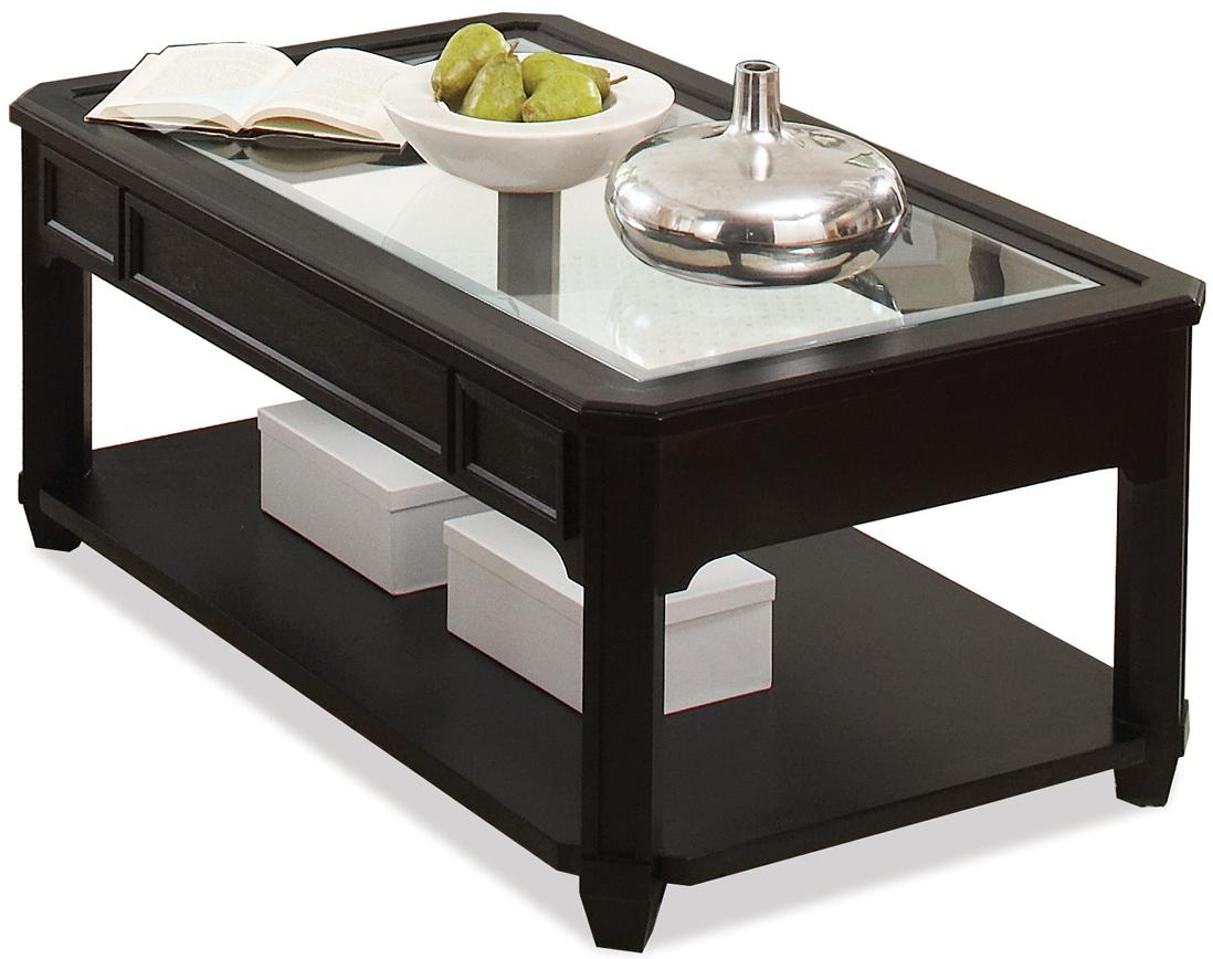Riverside Furniture Farrington Rectangle Cocktail Table With Glass Top Value City Furniture