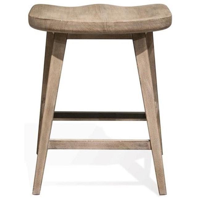 Riverside Furniture Juniper Counter Stool With Saddle