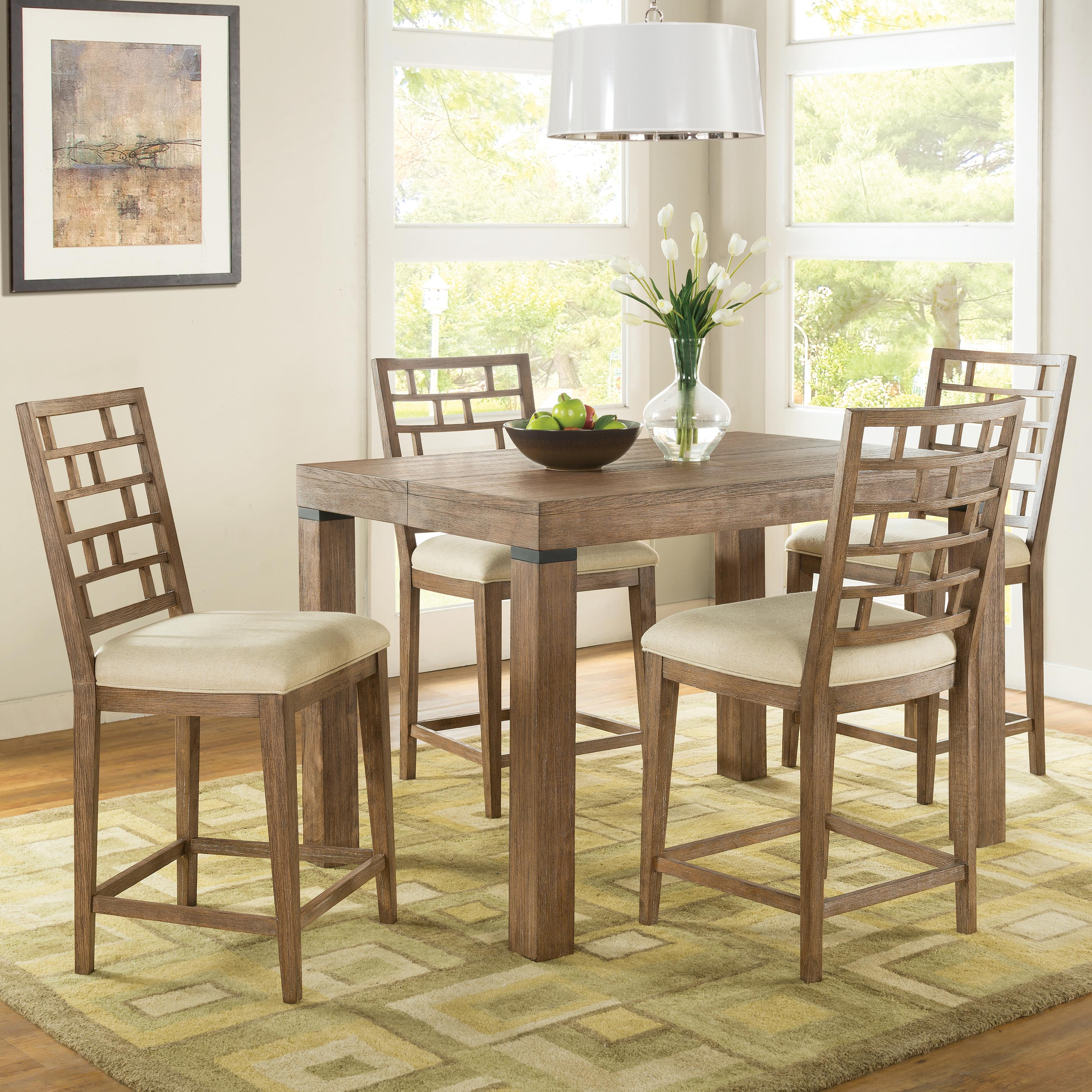 Riverside furniture mirabelle 5 piece counter height table for Hudsons furniture