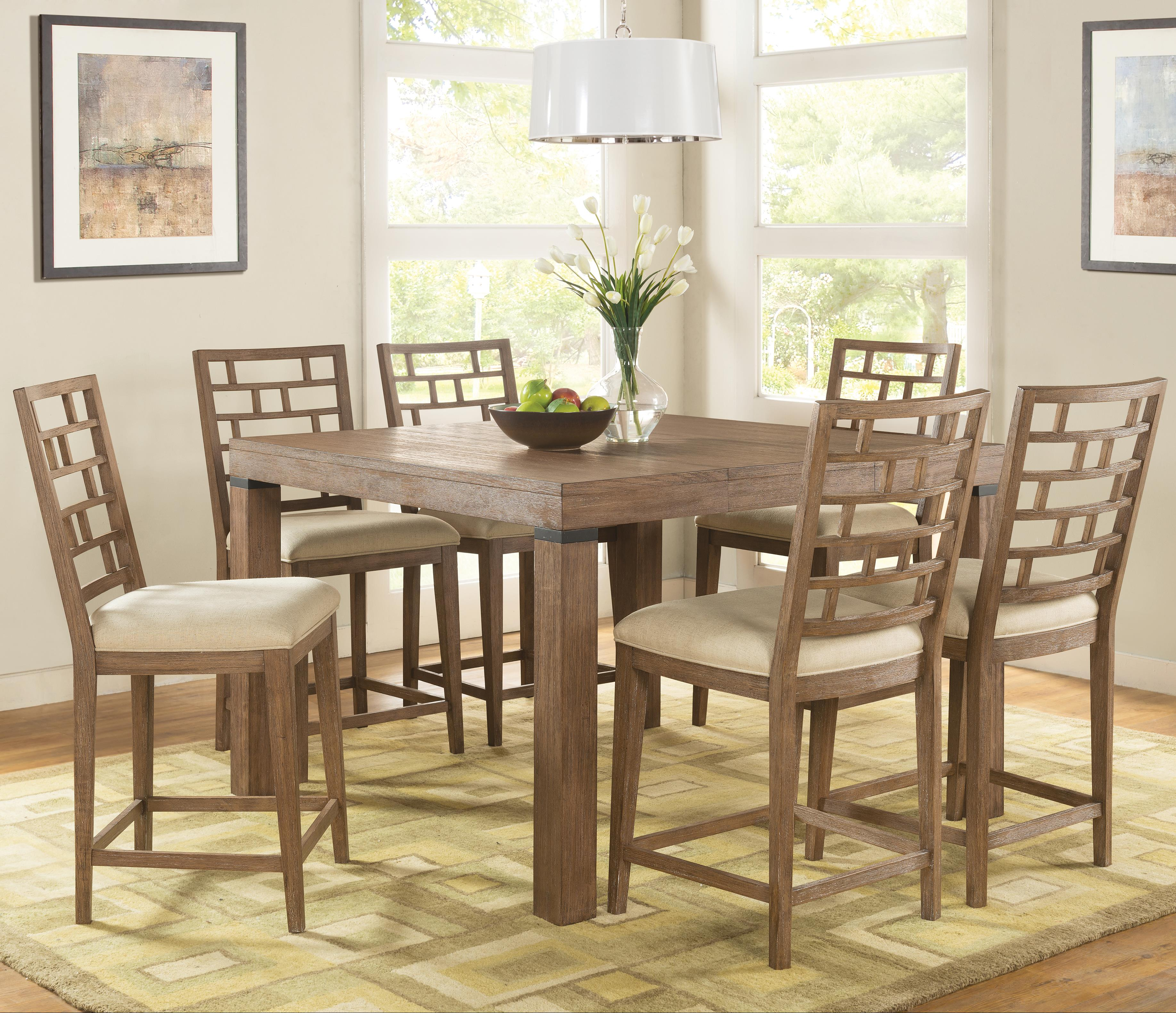 Riverside furniture mirabelle 7 piece counter height table for Hudsons furniture