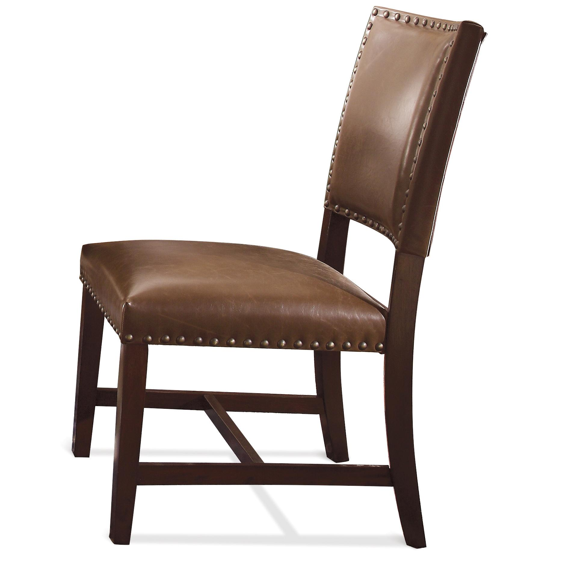 Riverside furniture mix n match chairs 36665 bonded for Leather parsons dining chairs