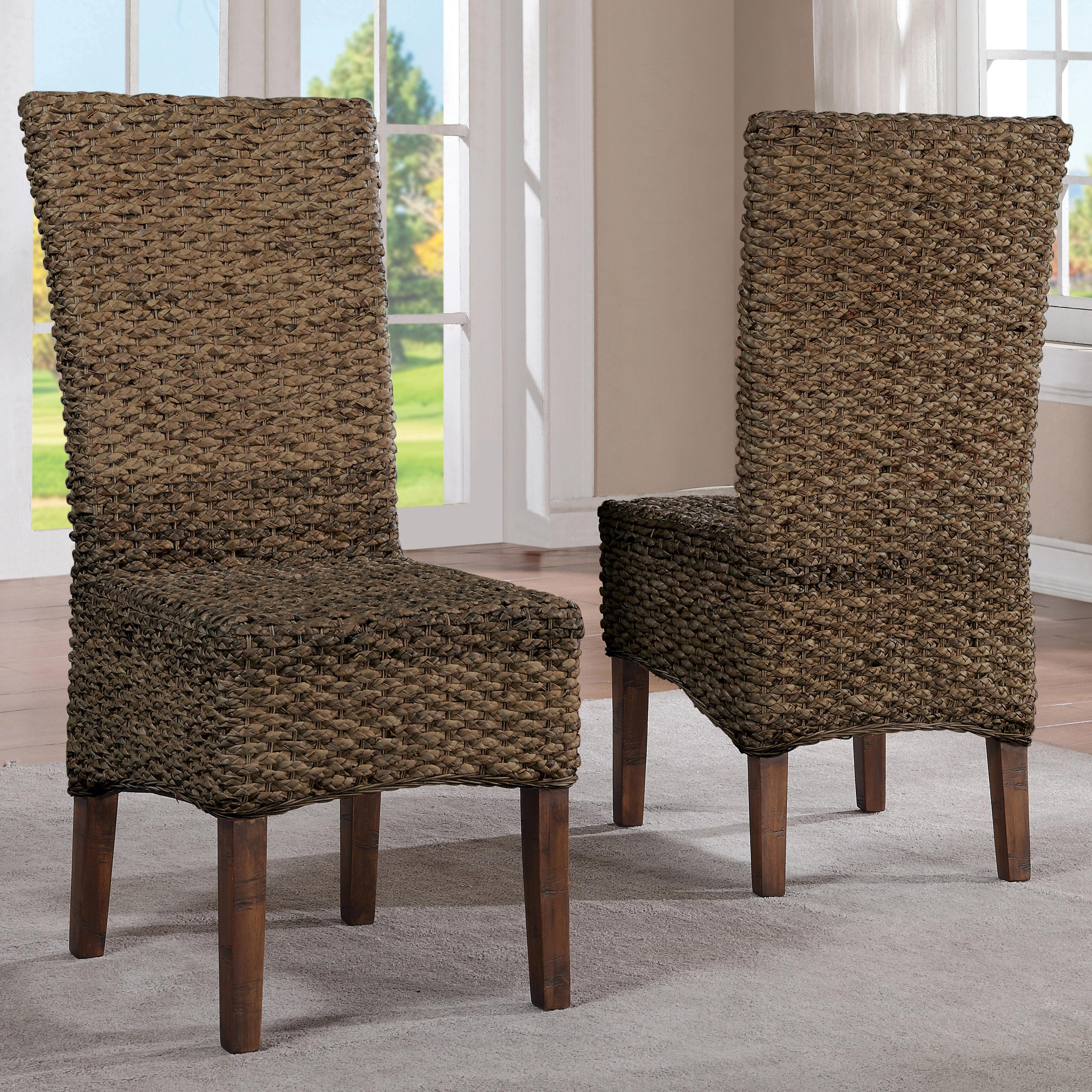 Riverside furniture mix n match chairs 36965 woven leaf for Matching dining room furniture