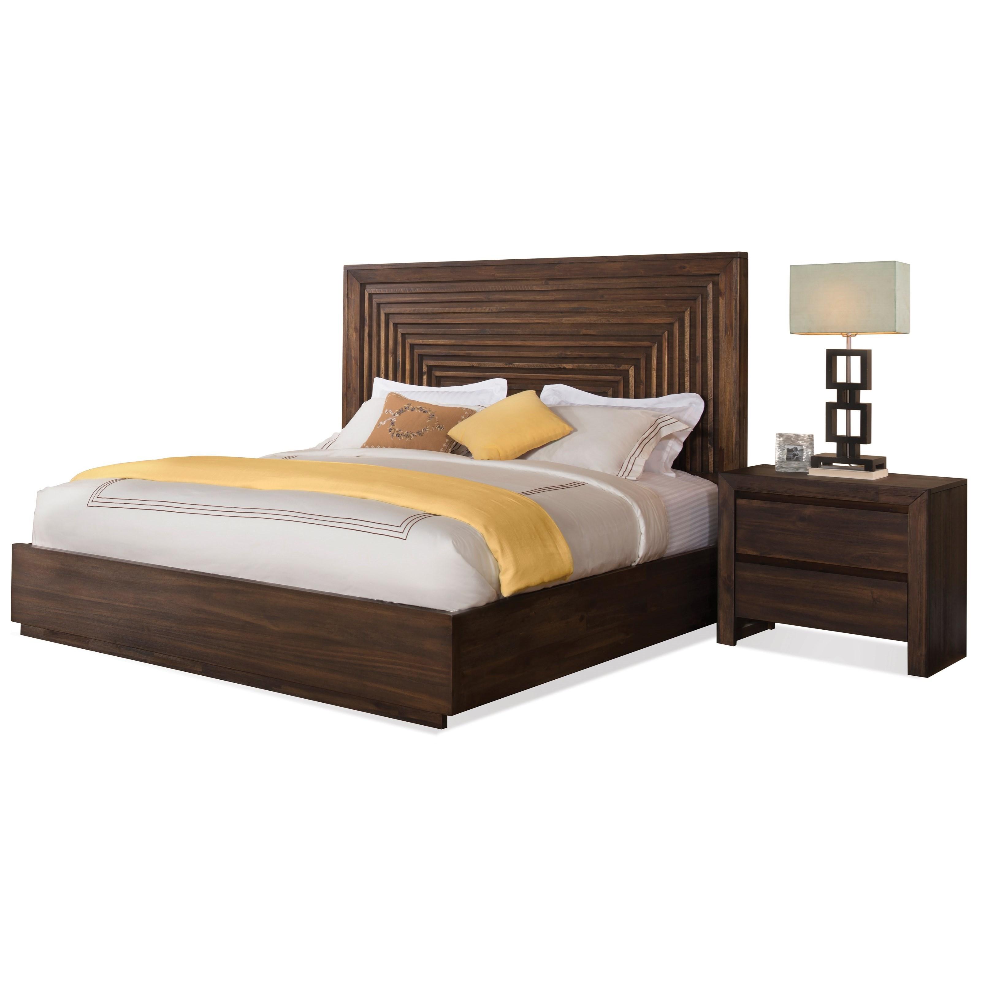 Riverside furniture modern gatherings queen bedroom group for Bedroom groups